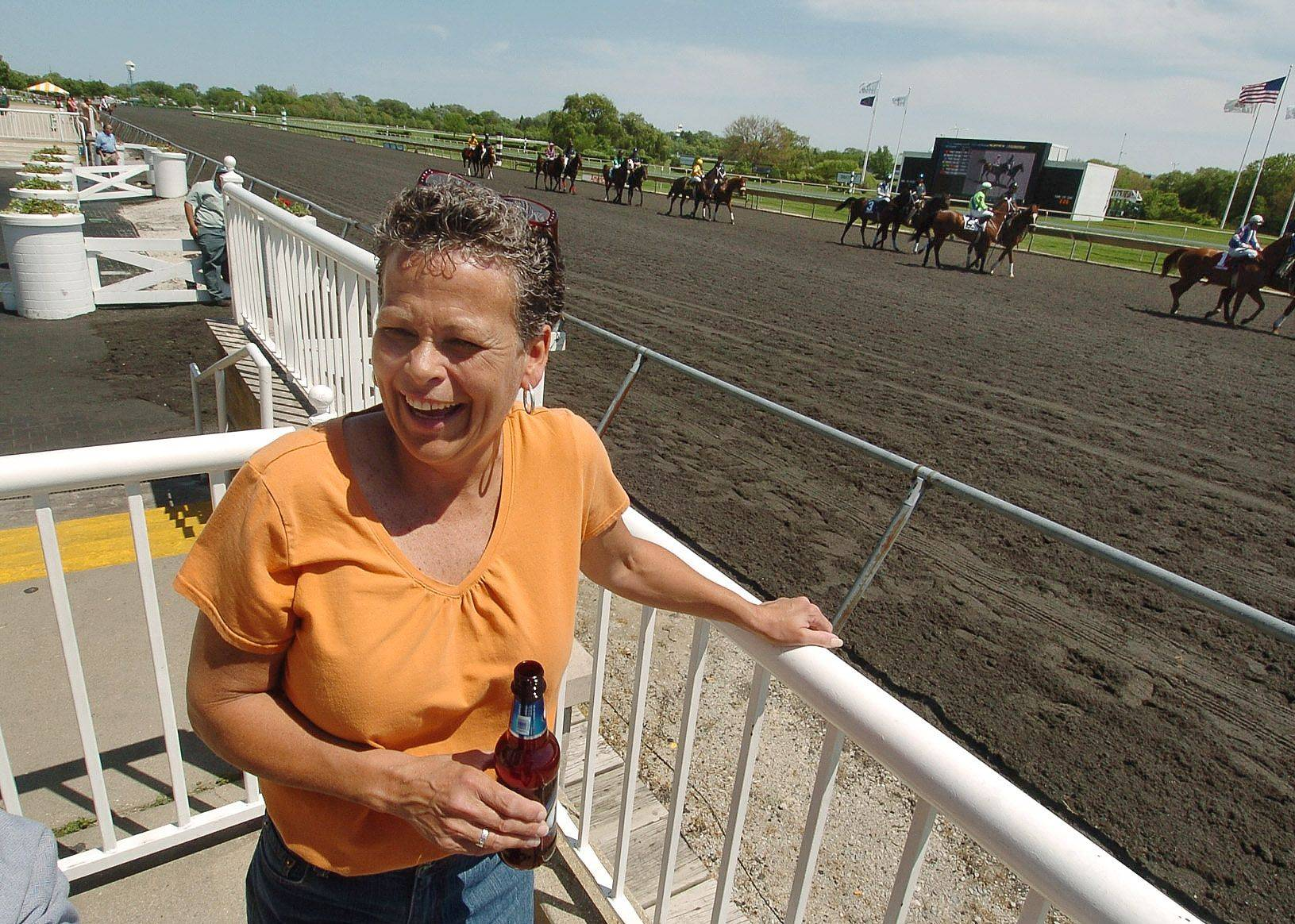 Slot machines inside a casino can't compete with the joy that Joy Suerth of Chicago gets from the sunshine, horses and camaraderie of Arlington Park.