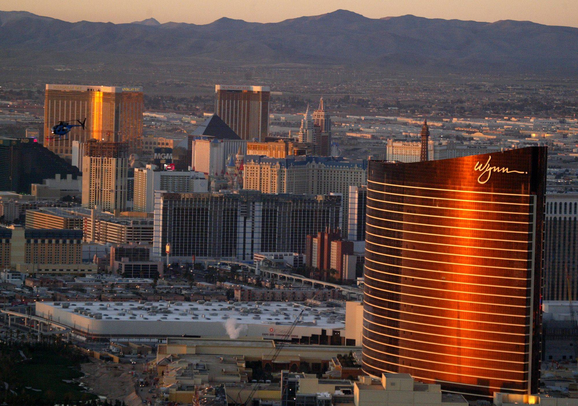 The new Wynn Resort on the north end of the Las Vegas Strip.