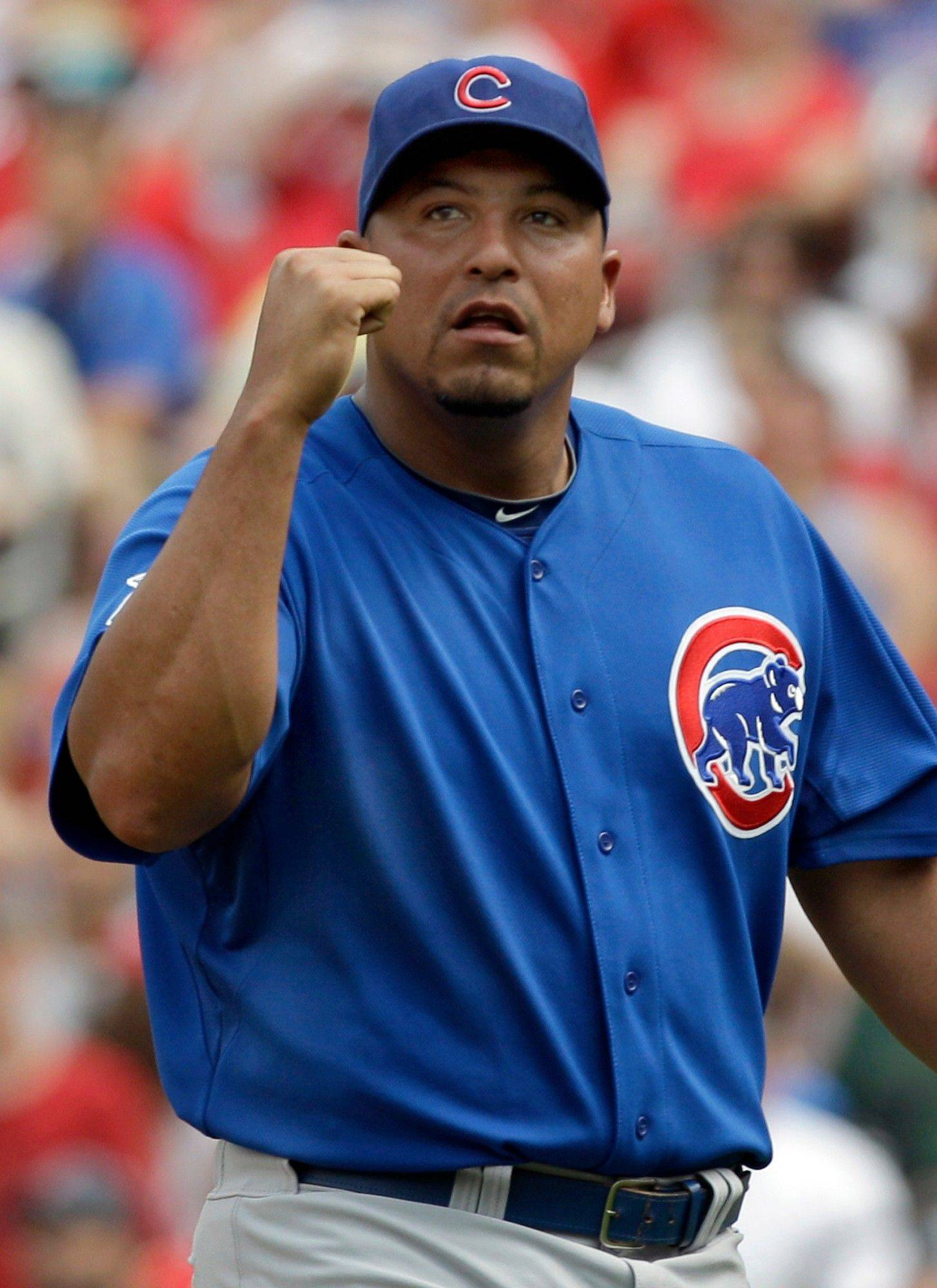 Carlos Zambrano wasn't happy Sunday after losing a second straight chance for a win because of a blown save.