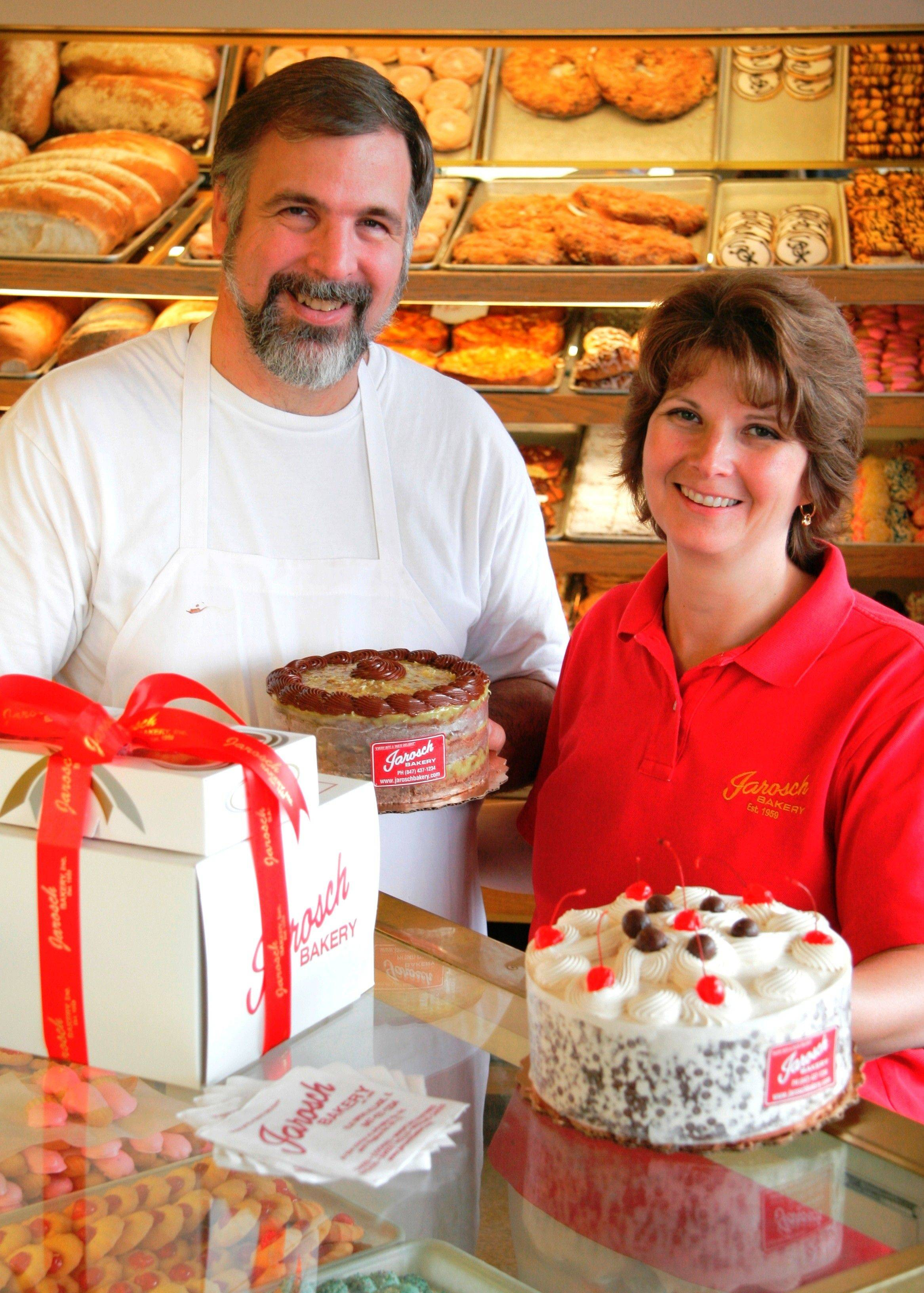 Ken and wife Kathy Jarosch, owners of Jarosch Bakery in Elk Grove Village.