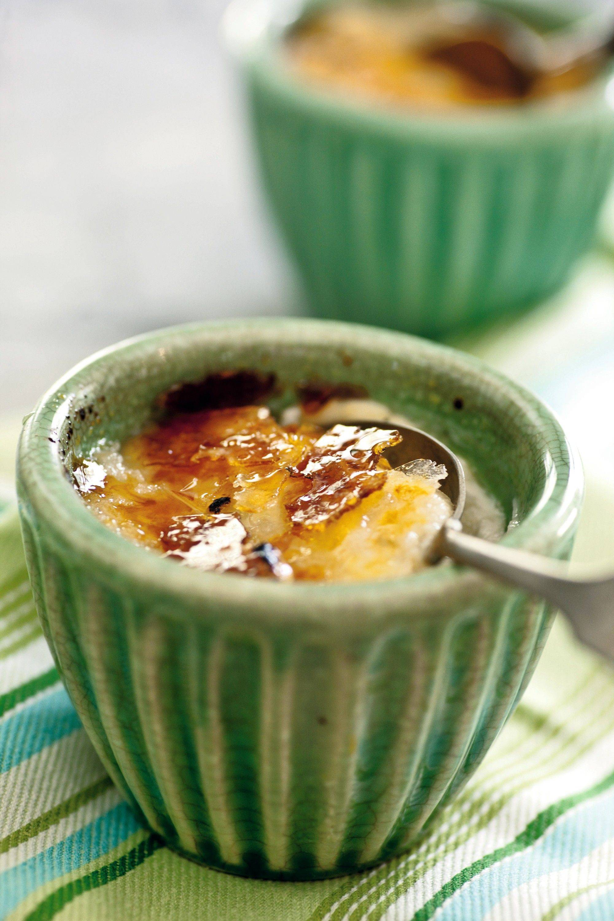 "Rice pudding gets a makeover with a crispy ""creme brulee"" topping."