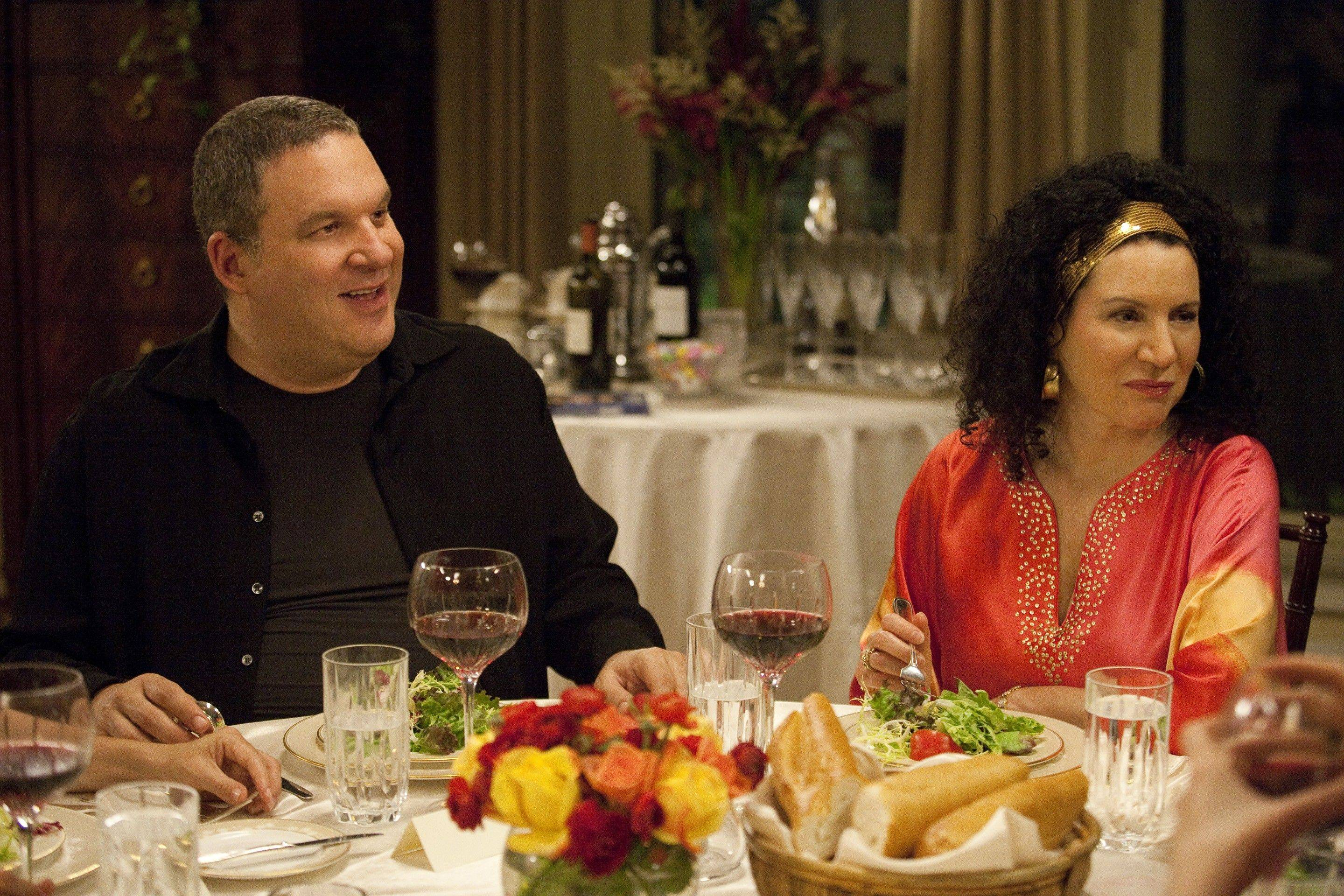 "Jeff Garlin, who plays manager Jeff Greene, sits with his sharp-tongued, on-screen wife Susie, played by Susie Essman, on ""Curb Your Enthusiasm."""