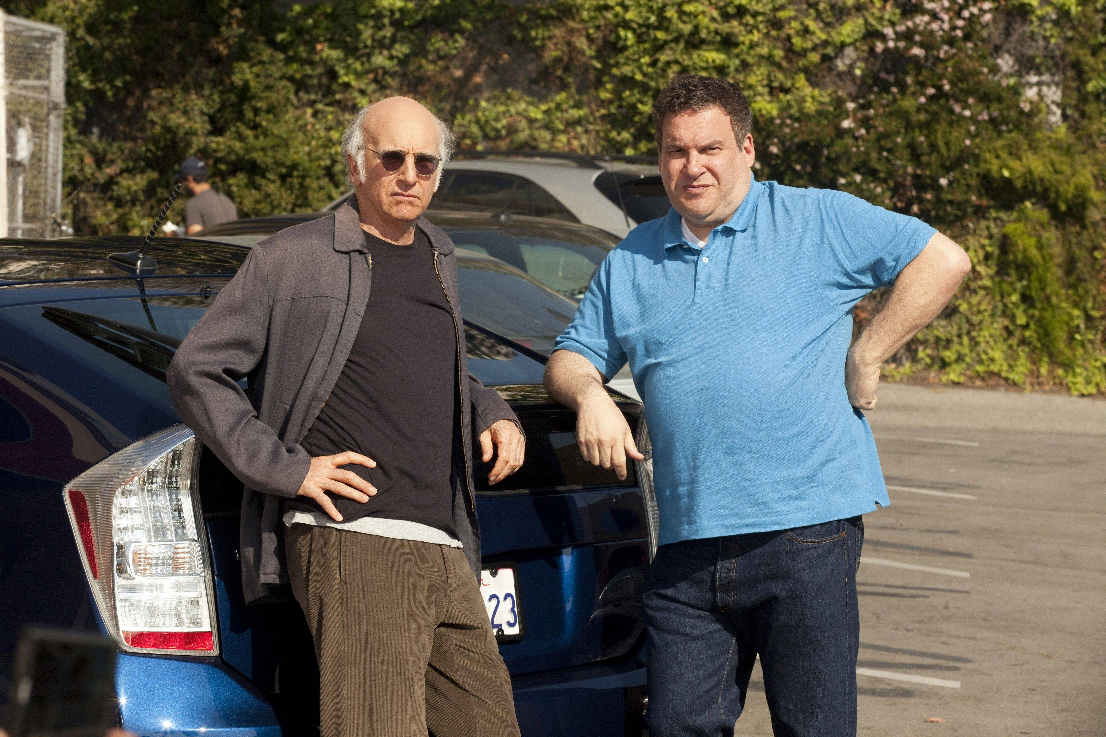 "The new season of ""Curb Your Enthusiasm"" starts July 10 on HBO, starring Larry David, left, and Morton Grove native Jeff Garlin."