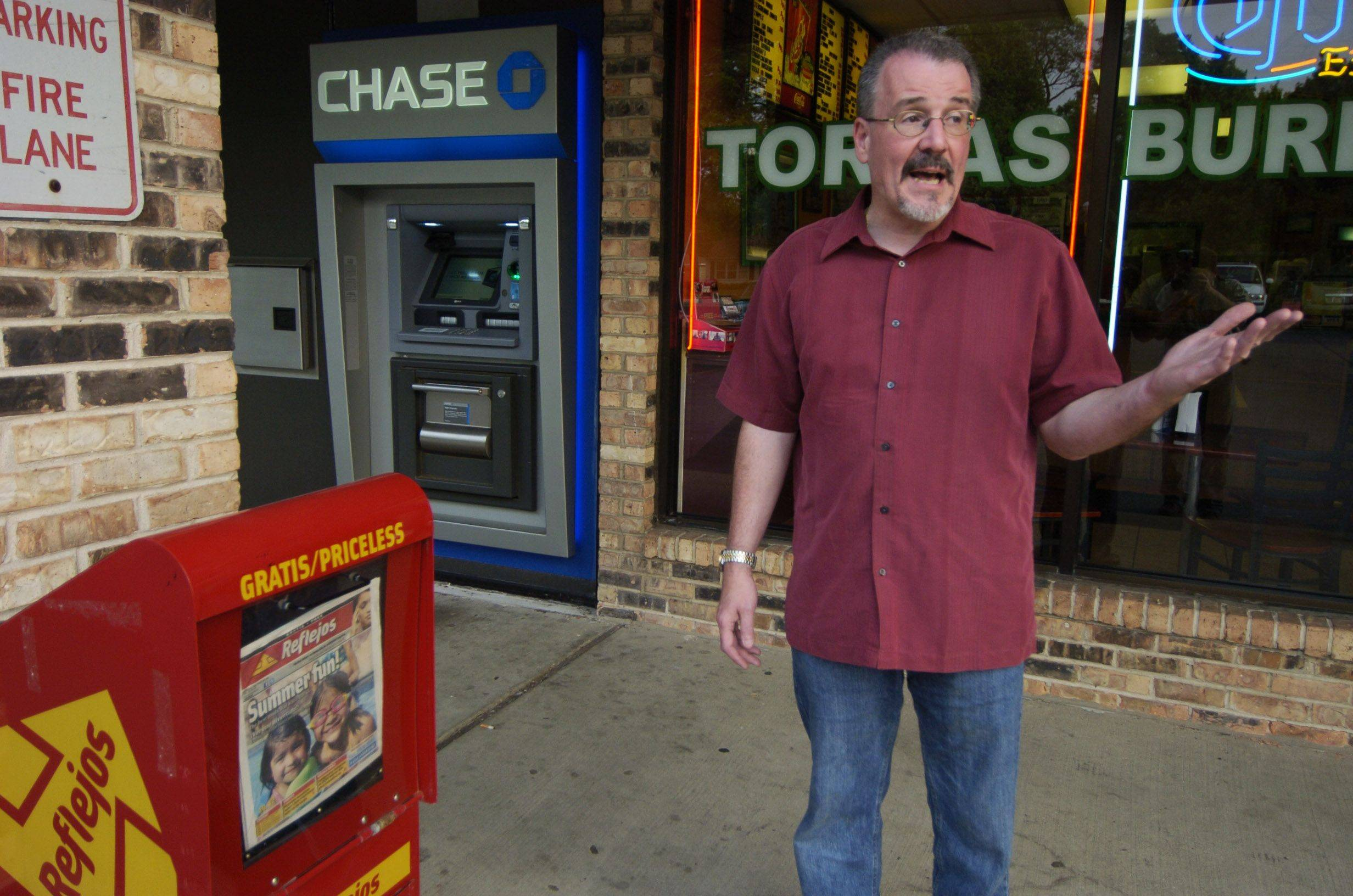 Wanting to withdraw cash from the ATM for a treat at Se�or Taco in Rolling Meadows, Robert Adams spotted a bag full of money next to the Reflejos newspaper box.