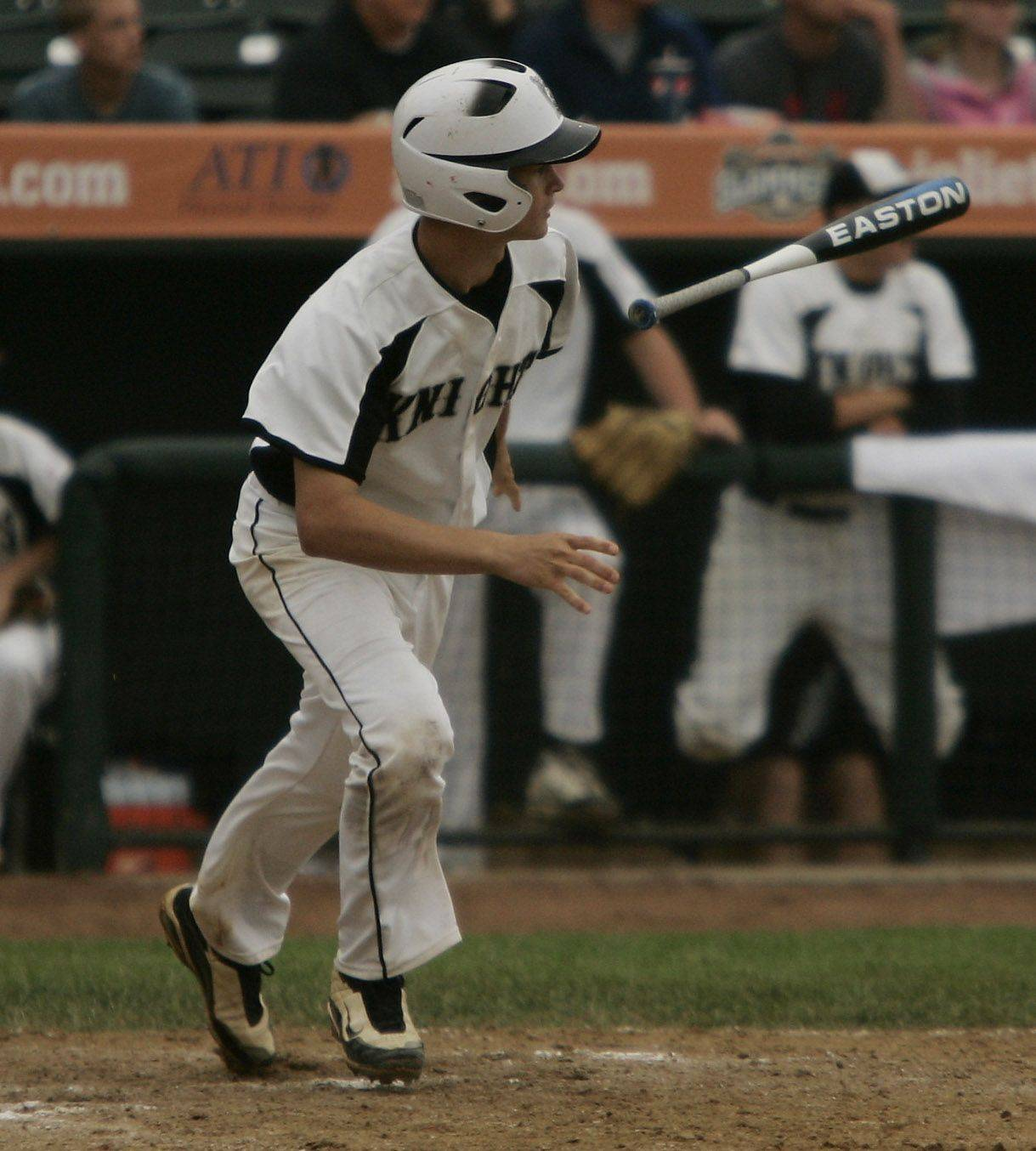 Kaneland batter Brian Dixon gets a hit during the Kaneland vs. Oak Forest boys high school baseball game Saturday in the Class 3A state finals at Silver Cross Field in Joliet. Kaneland defeated Oak Forest 11-3 to win the state championship.