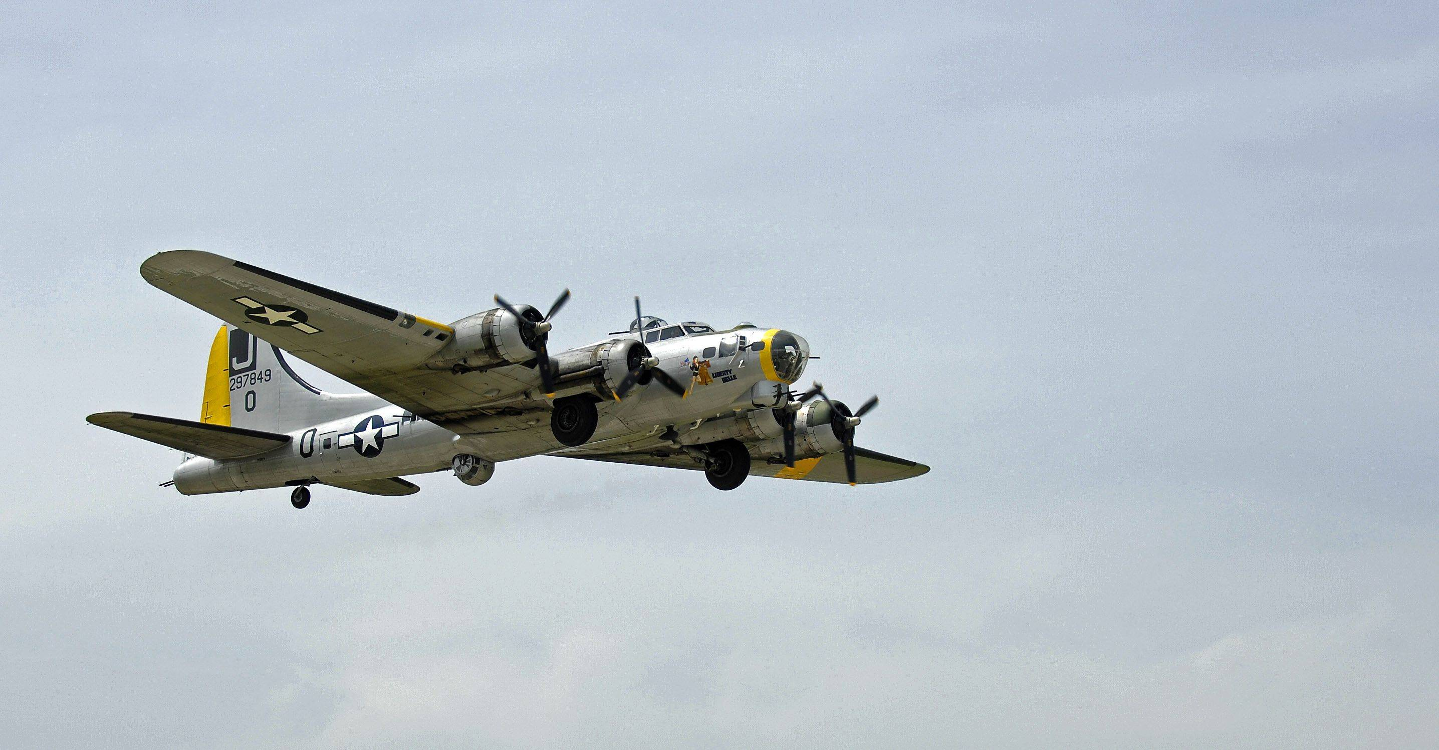 The Liberty Belle, a World War II Boeing B-17 Flying Fortress, goes for a short ride for the media in June 2010.