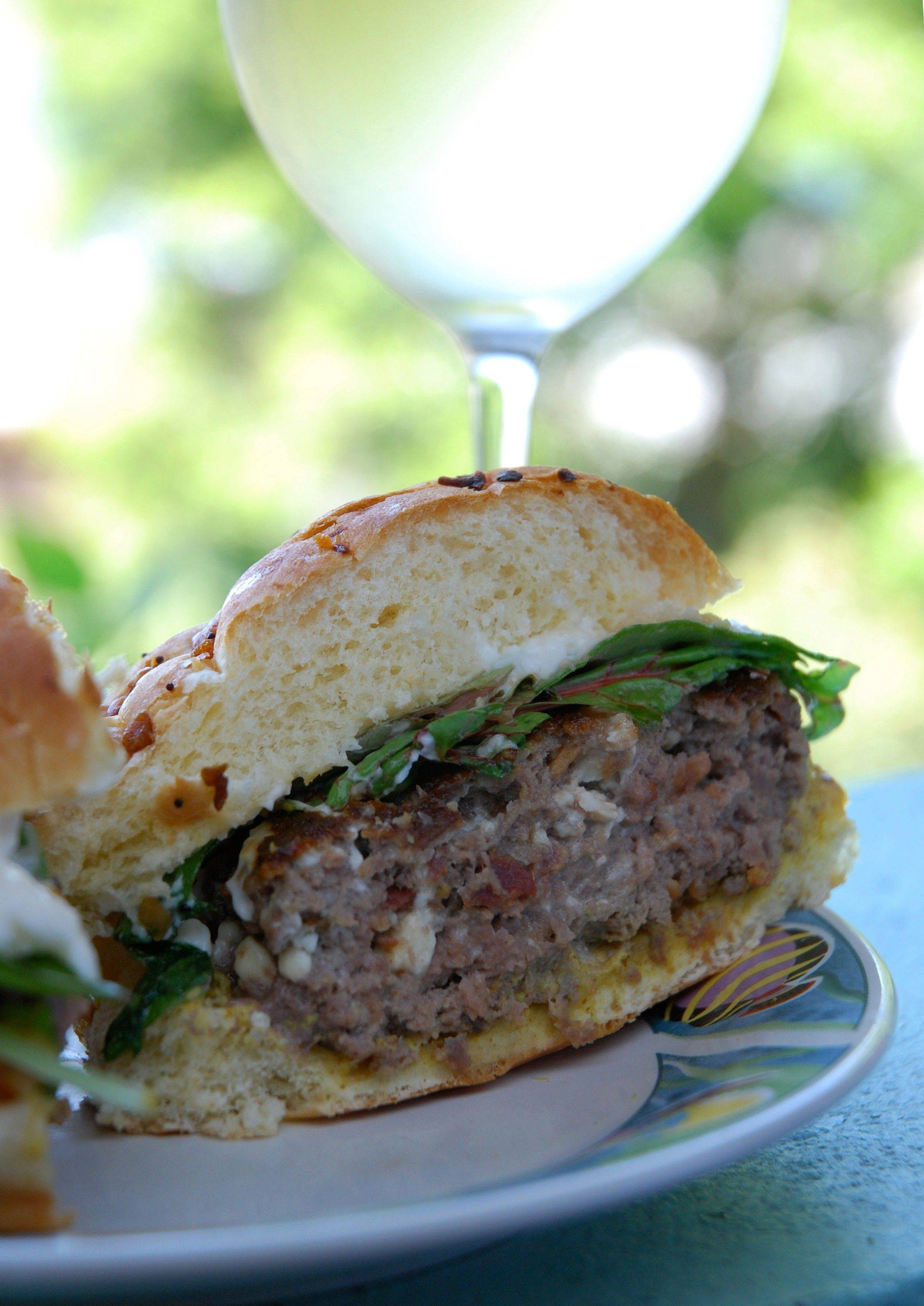 Savory blue cheese and bacon make these burgers extra special.