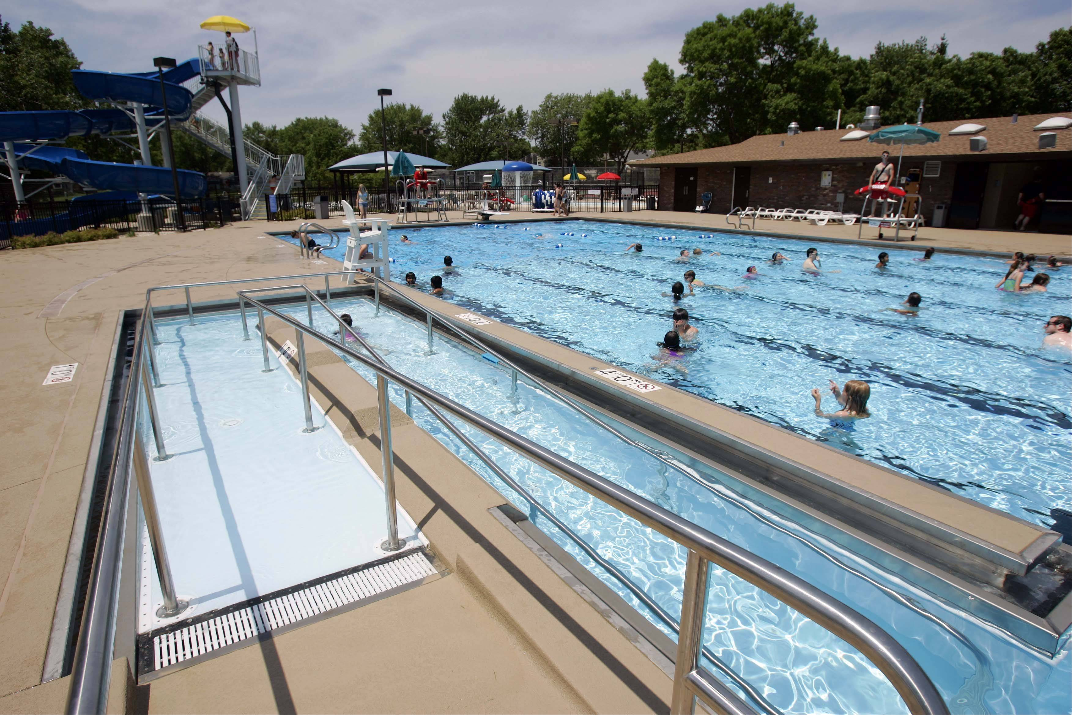 Besides the new slide in the background, Willow Stream Pool has added handicap access to the Buffalo Grove facility.