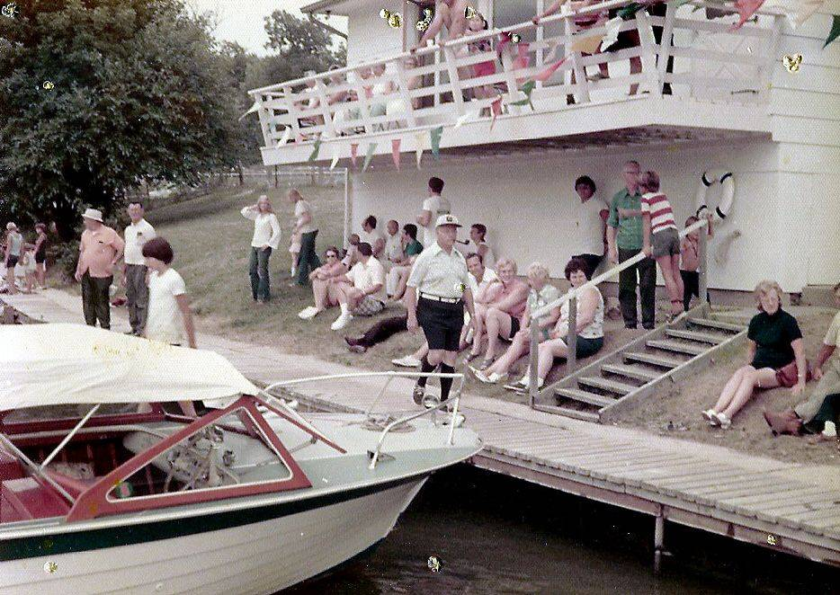 Members of the Elgin Marine Club enjoy an event at their club in the 1960s. The group's clubhouse was located on the east side of the Fox River just south of the city's water pumping station.