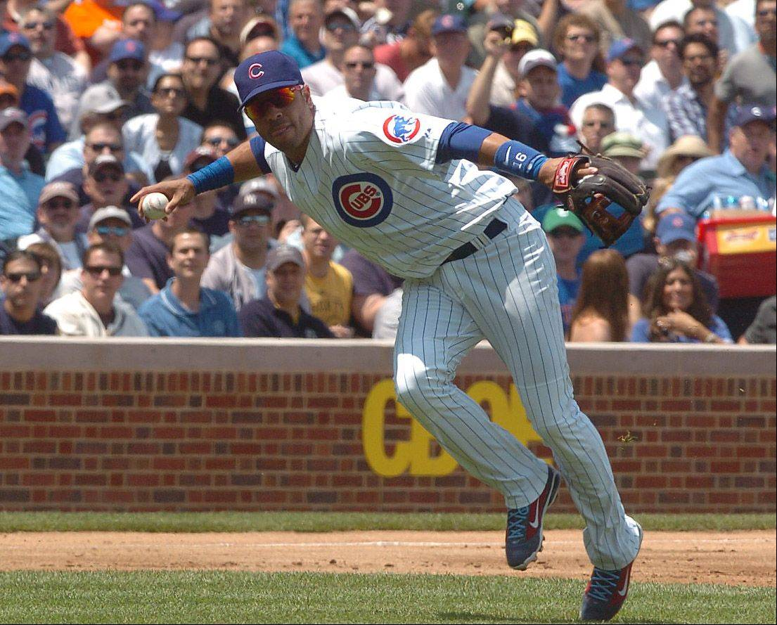 Aramis Ramirez robs Russell Martin of a hit in the 2nd inning during Cubs vs. Yankees at Wrigley Field.