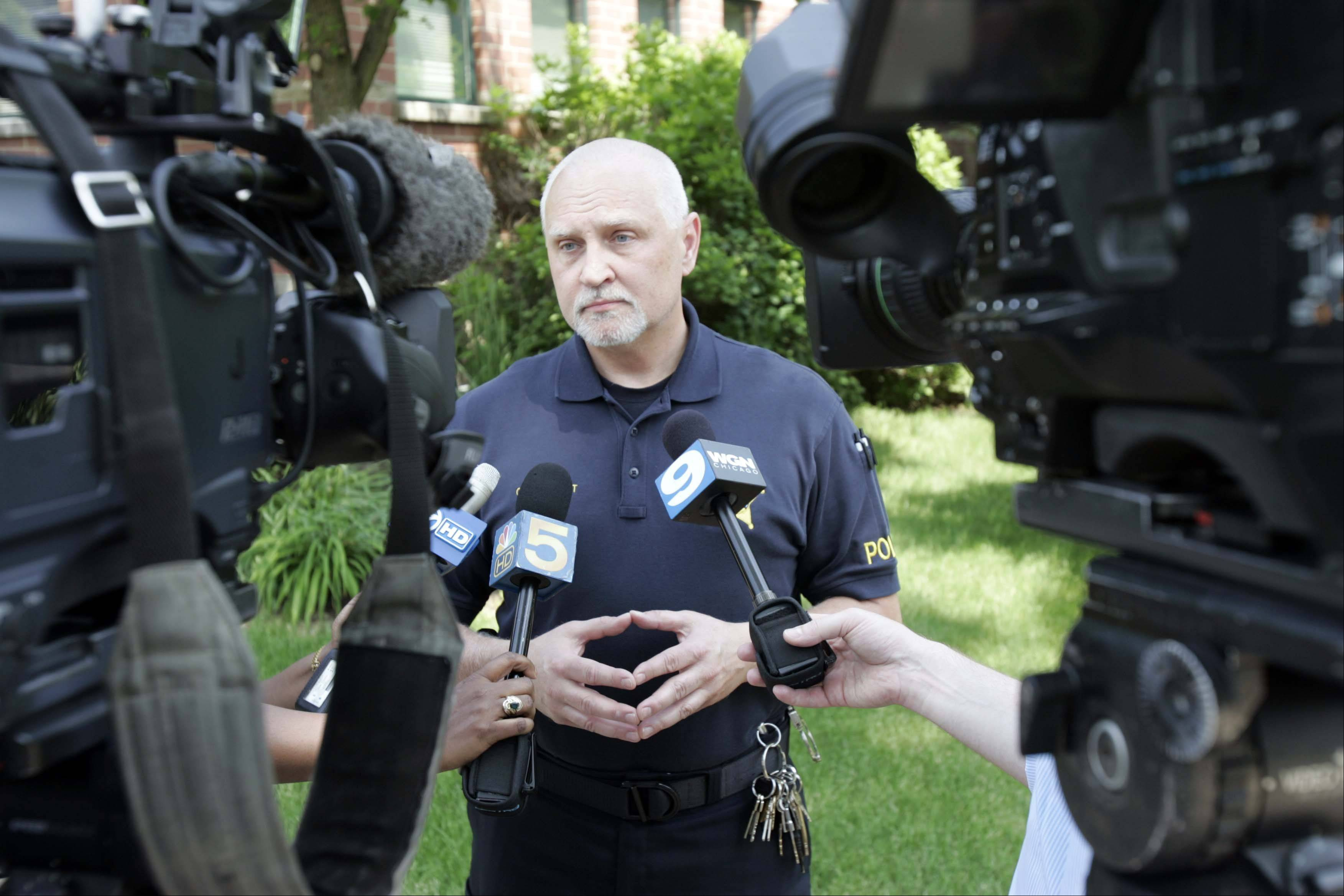 Prospect Heights Police Cmdr. Eric Lundt talks about the crash that killed three teens Saturday morning across the street from the police station.