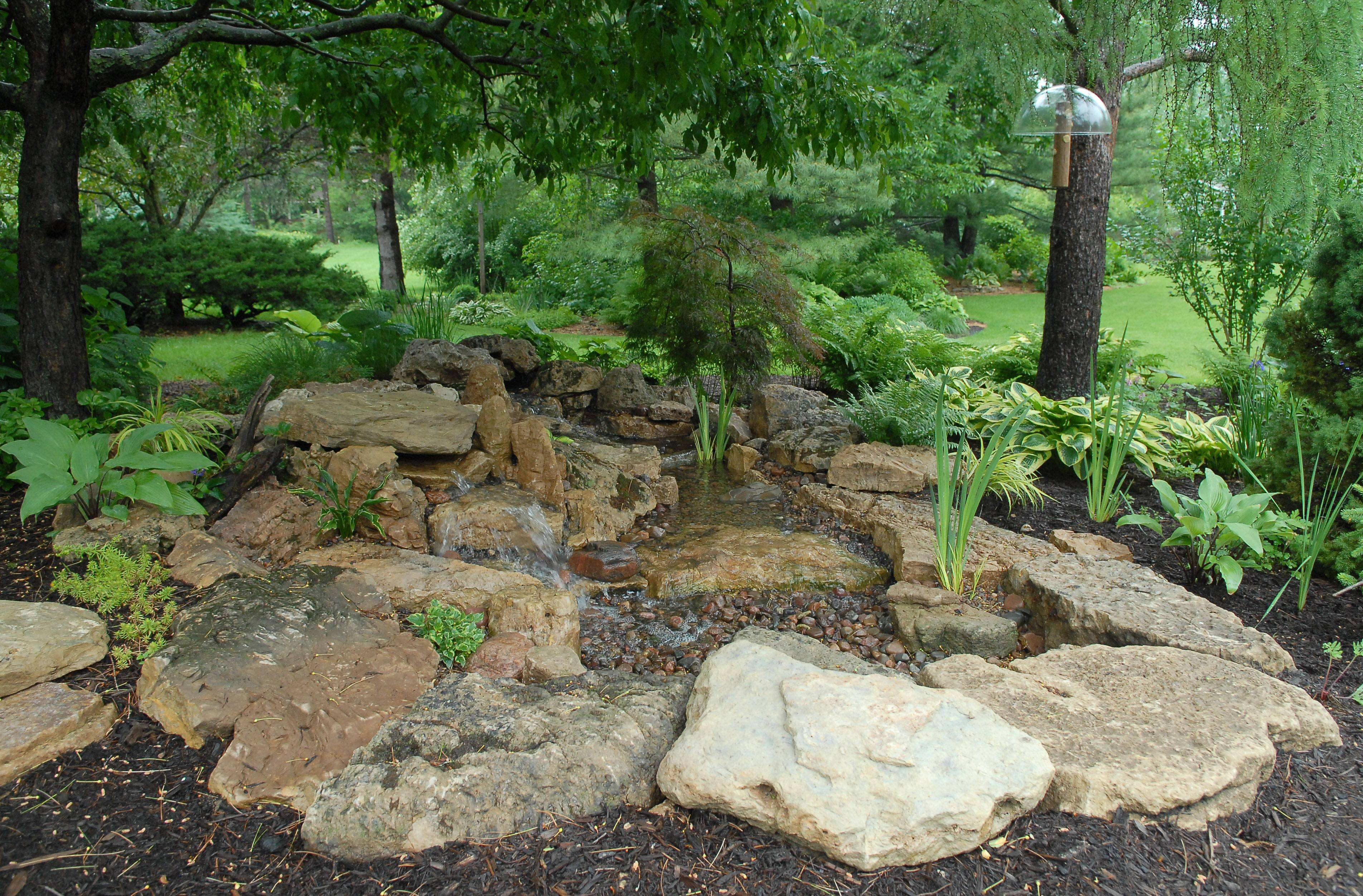 The garden of Lori and Byron Ambrose has a new pondless water feature.