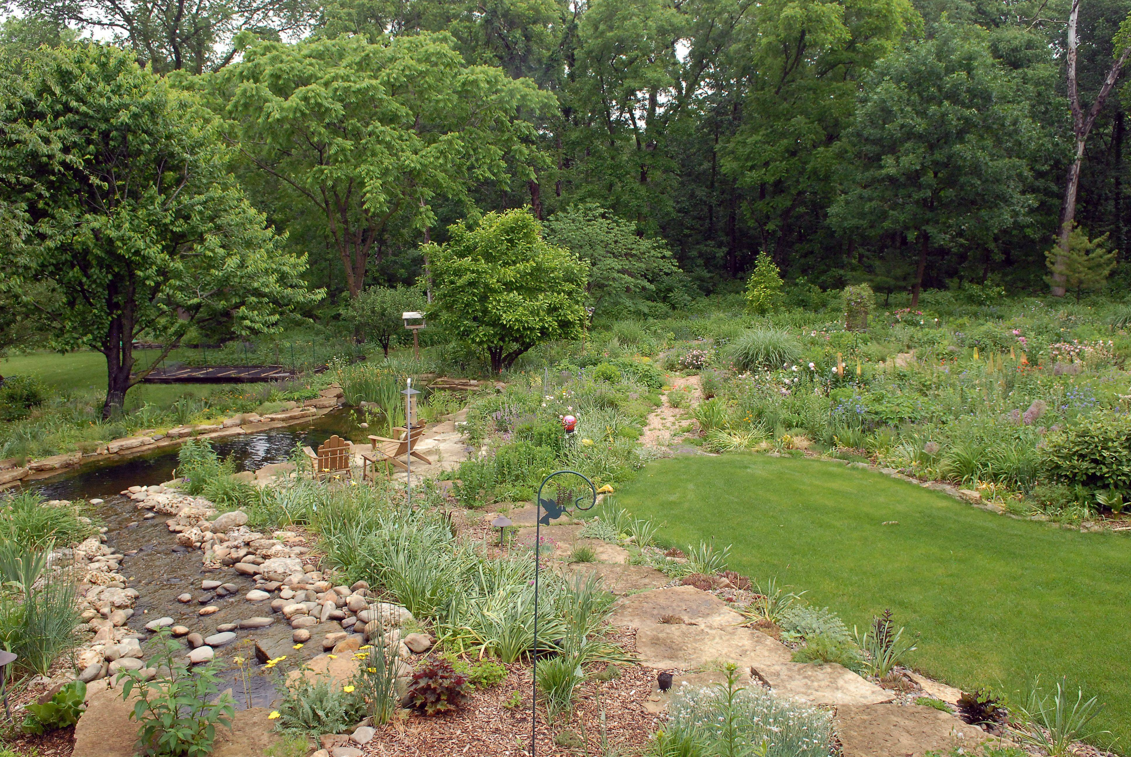 Water features, fruit trees and perennials are highlights of Dee and Bob Raimondi's garden.