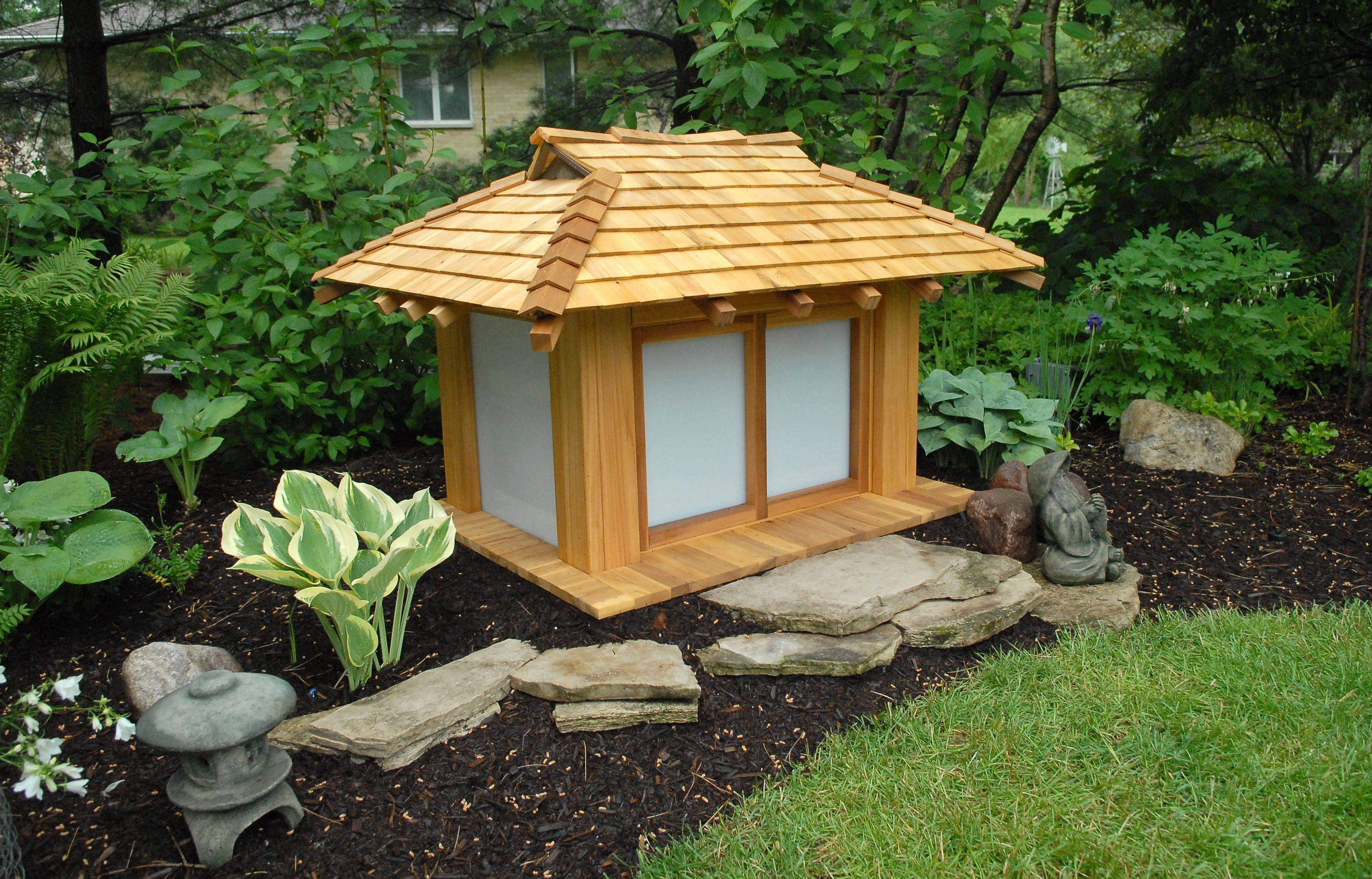 Byron Ambrose made this scale model teahouse for his garden near Batavia.