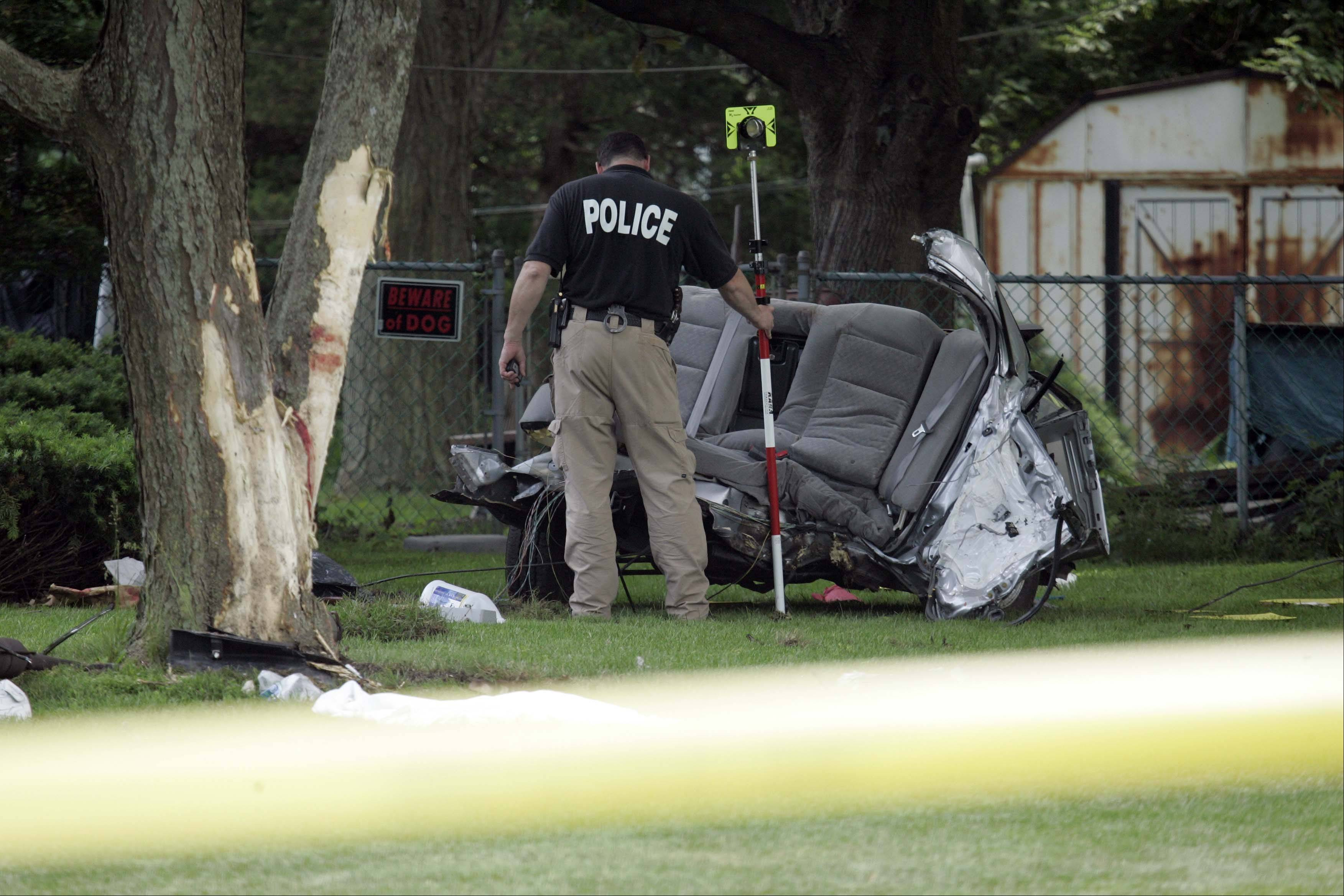 Police in Prospect Heights continue to investigate a crash Saturday that killed three Northwest suburban teens. Investigators spoke with the crash's lone survivor Monday.