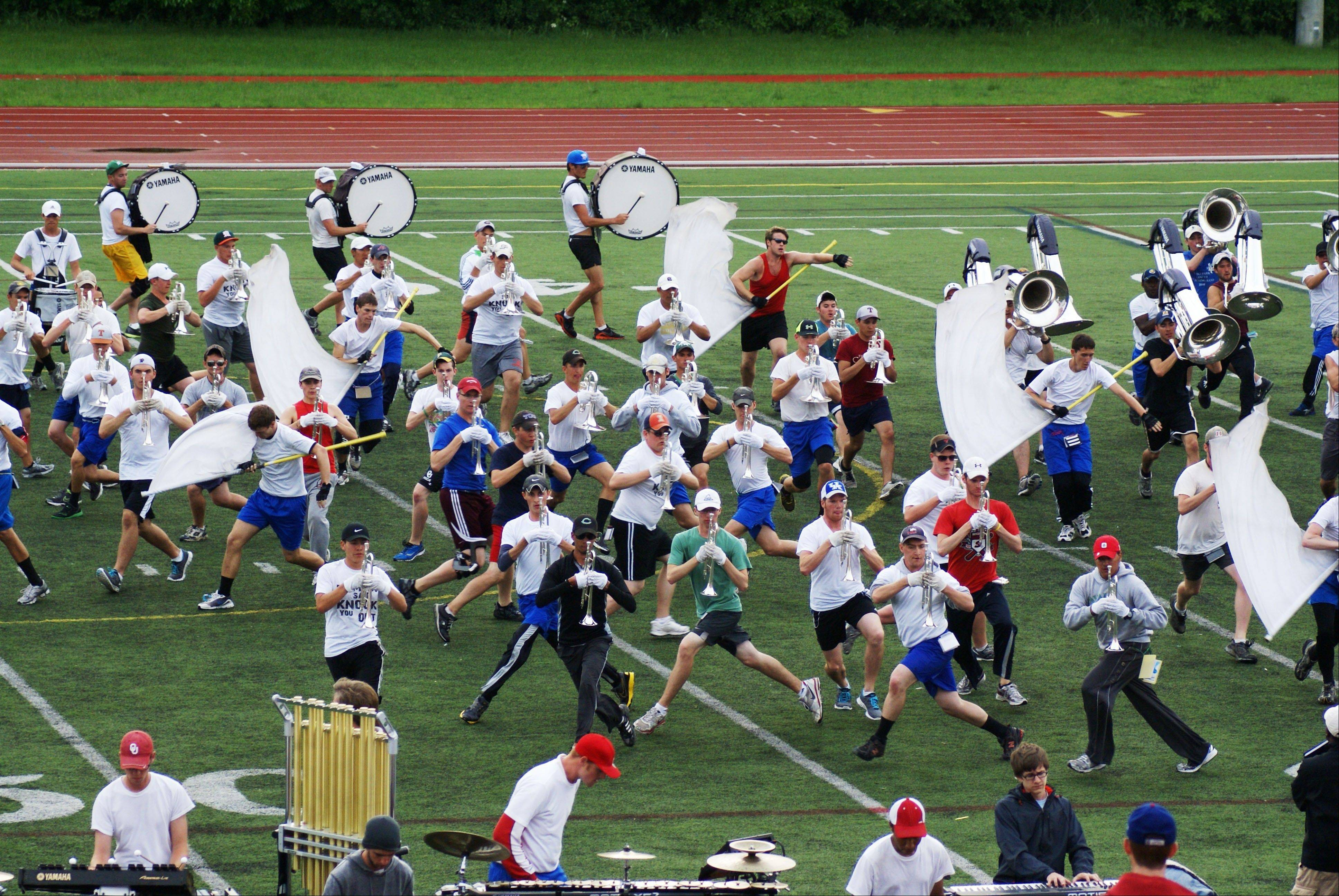 The Cavaliers of Rosemont spent more than two weeks in May at Benedictine University as the corps trained for the 2011 season.