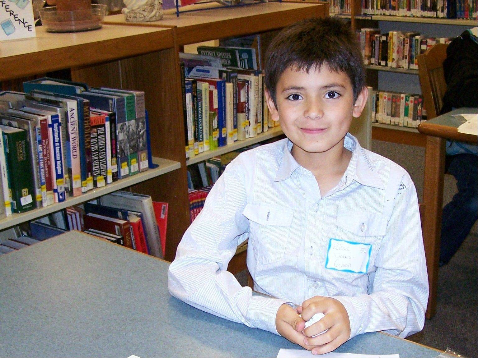 Robbie Iraburo Cochran, 10, learned about electronics and gadgets during the interview he conducted.