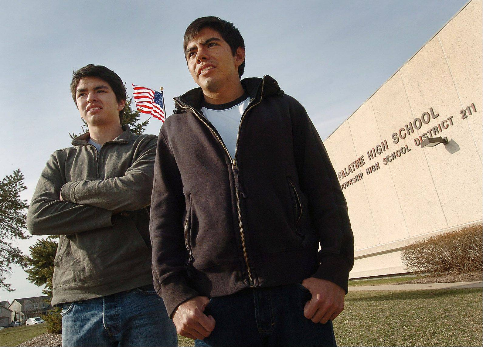 College students Rafael, left, and Carlos Robles have won a temporary deportation reprieve thanks to the efforts of U.S. Sen. Dick Durbin and lawyers from the National Immigration Justice Center.