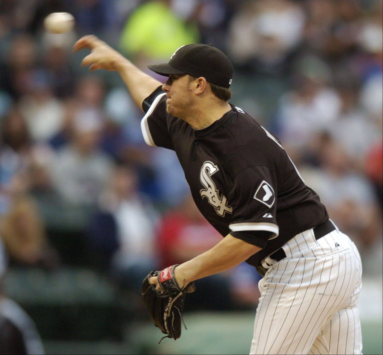 Sox starting pitcher Jake Peavy delivers against the Cubs during Wednesday's game at U.S. Cellular Field.