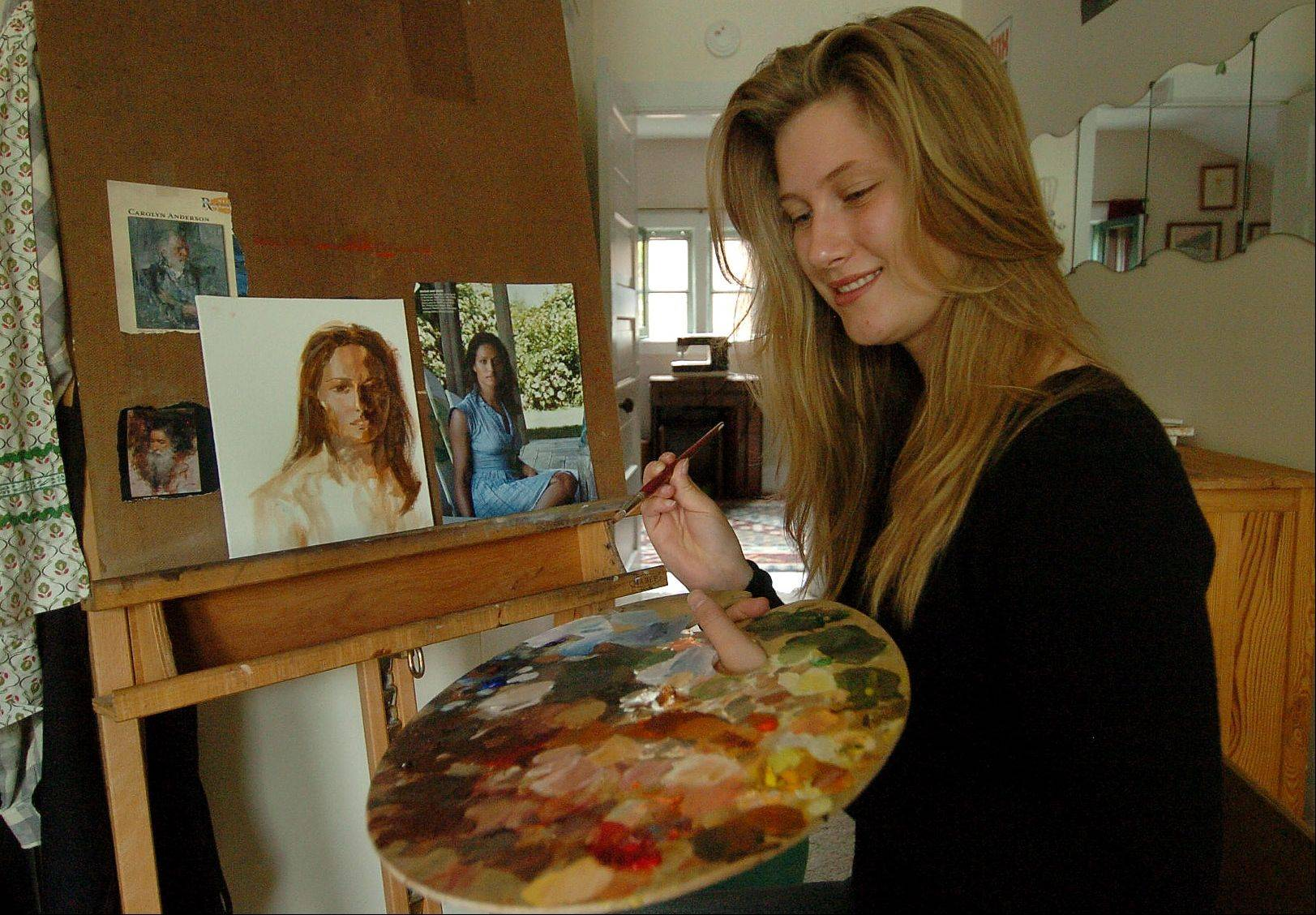 Lucy Miller is a talented artist but also managed to lead Larkin High School's graduating class as its valedictorian.