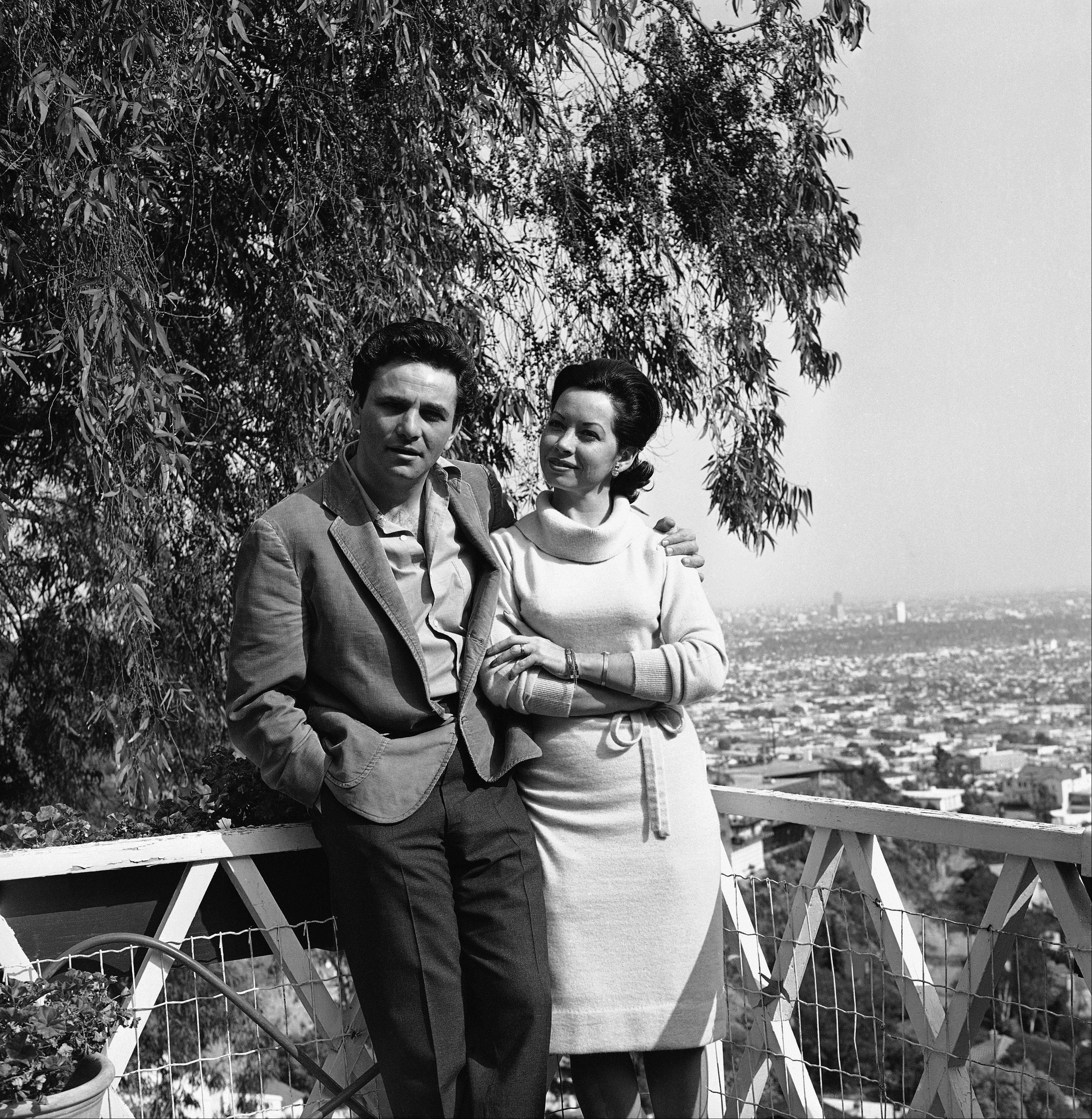 Actor Peter Falk with his wife Alyce at their Holllywood, Calif. home on March 10, 1965. The view from this balcony is Beverly Hills and West Hollywood.