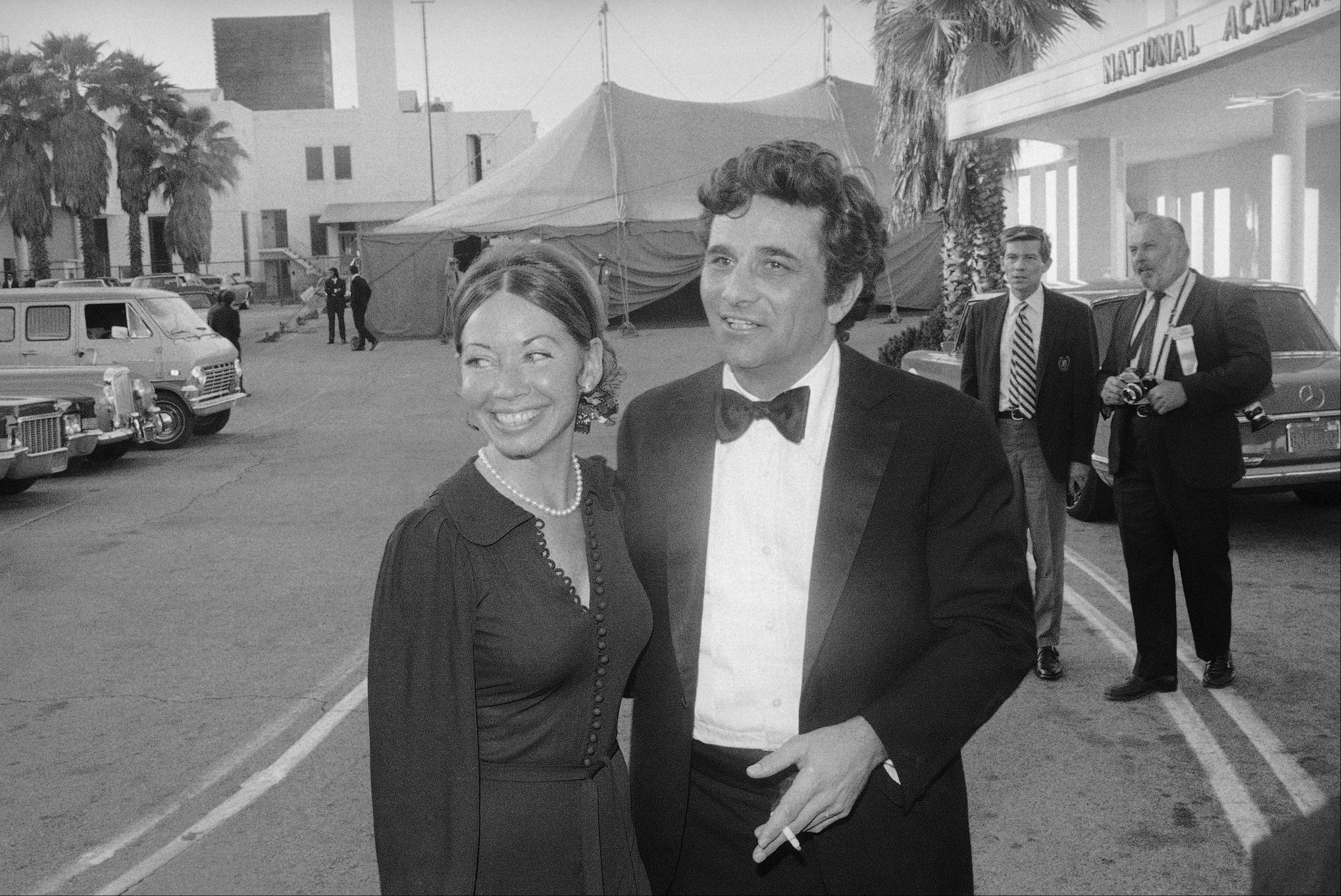 Peter Falk and his wife Alyce attend the Emmy Awards in this 1972 photo in Los Angeles.