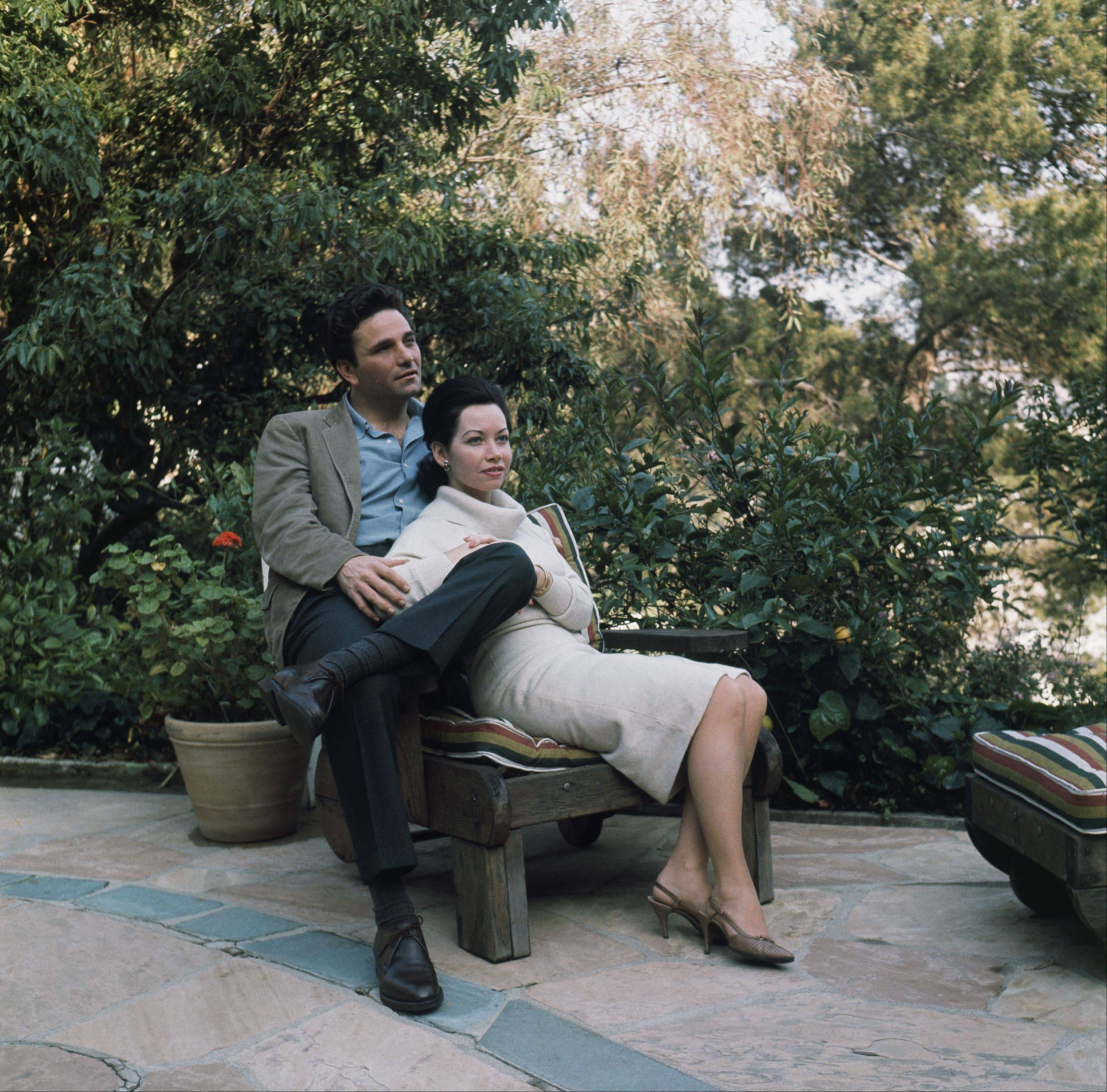 Peter Falk with wife Alyce, in their Hollywood Hills home, California on March 10, 1965..