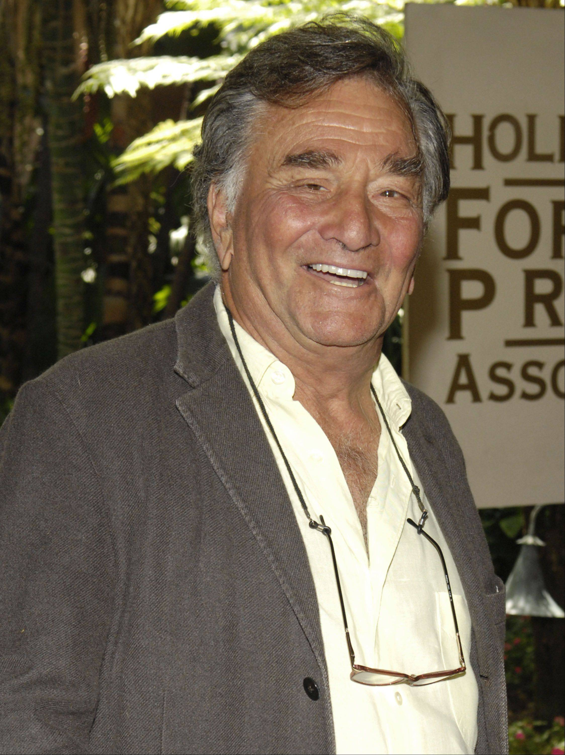In this Aug. 9, 2007 file photo, actor Peter Falk arrives for the Hollywood Foreign Press Association's annual installation luncheon at The Beverly Hills Hotel in Beverly Hills, Calif.