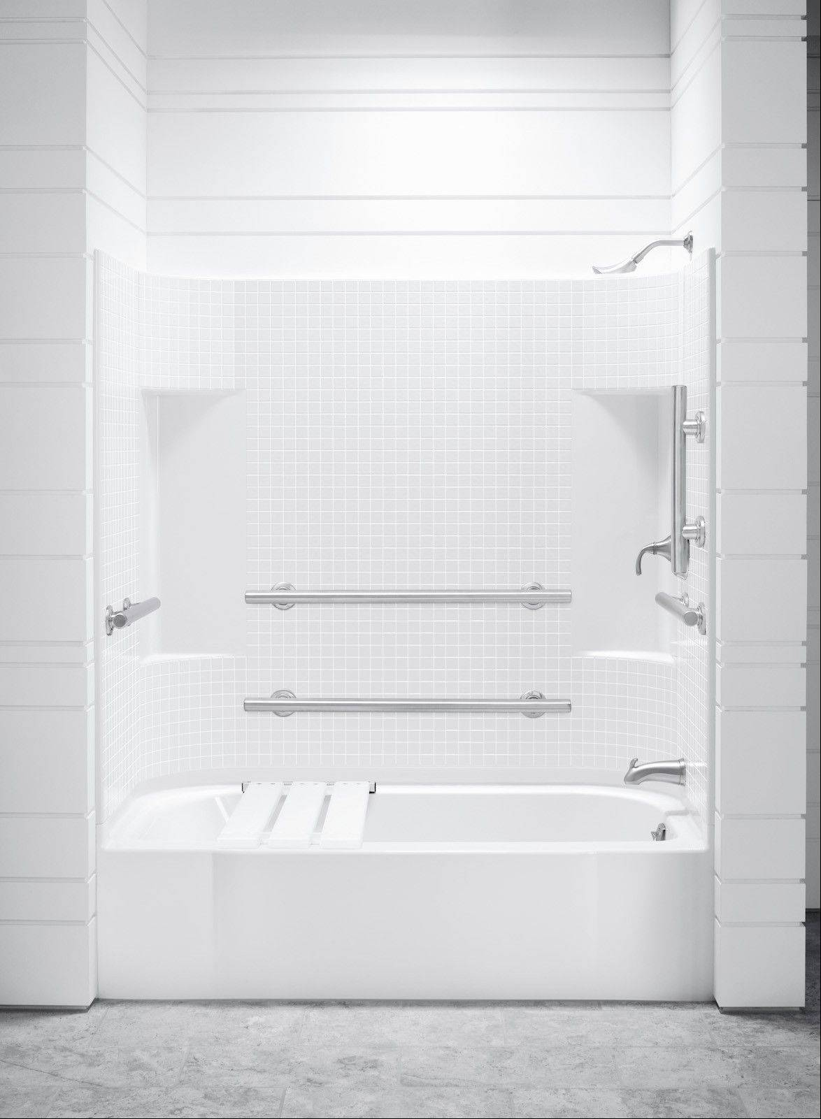 """Multi piece"" tub and shower units work well for most remodeling jobs."