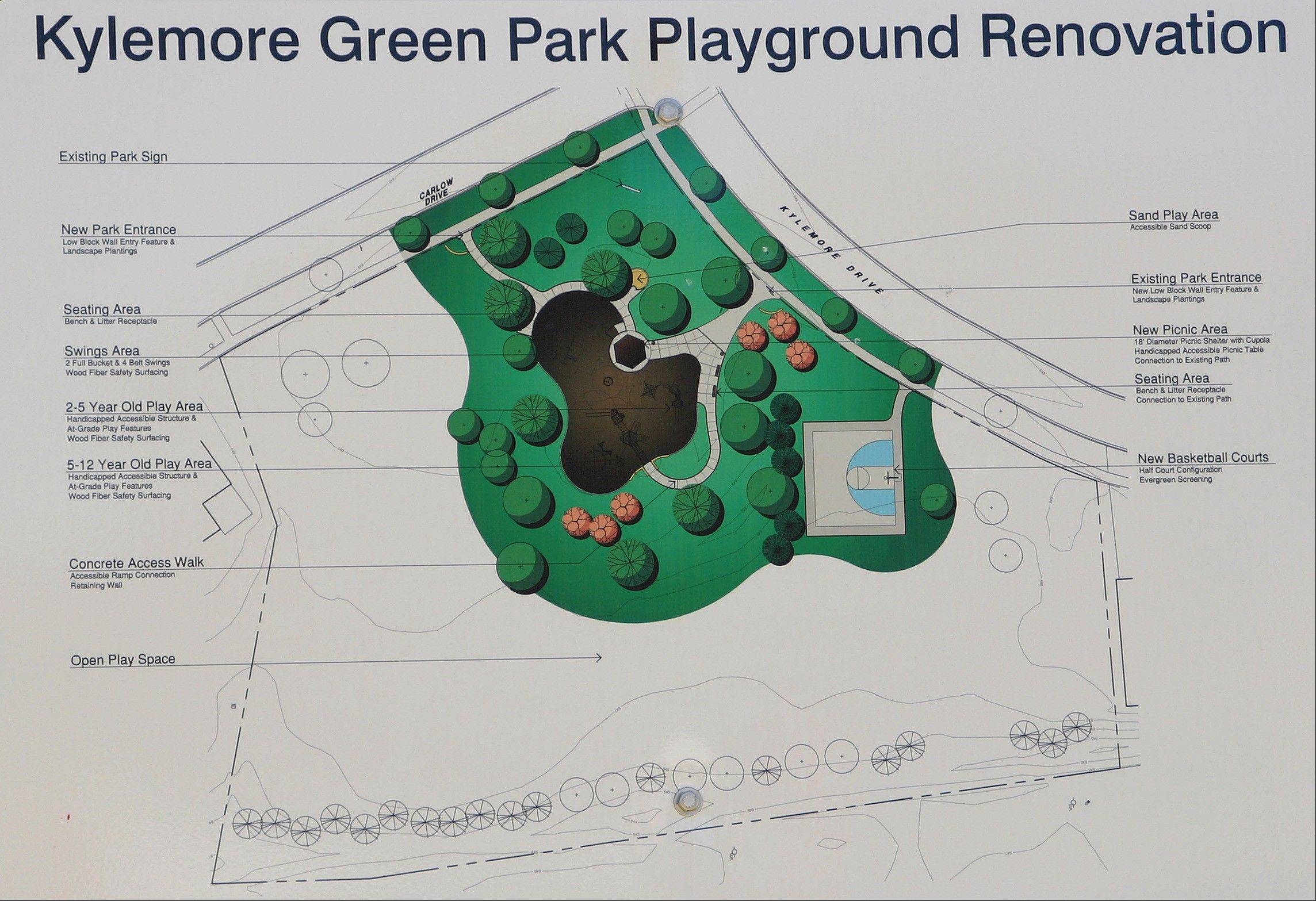 Architectural rendering of the new Kylemore Greens Park slated for completion soon.