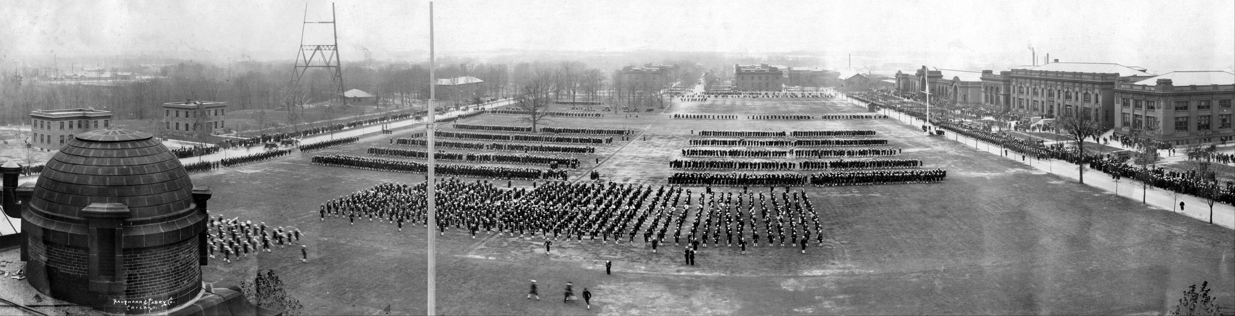 Ross Field at Great Lakes Naval Station during World War II.