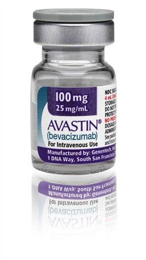 This photo provided Jan. 31, 2011, by California-based Genentech Inc., shows the blockbuster cancer drug Avastin. A new analysis raises fresh questions about the risks of Avastin, suggesting the chance of dying from side effects linked to it is higher than the risk for patients on chemotherapy alone.