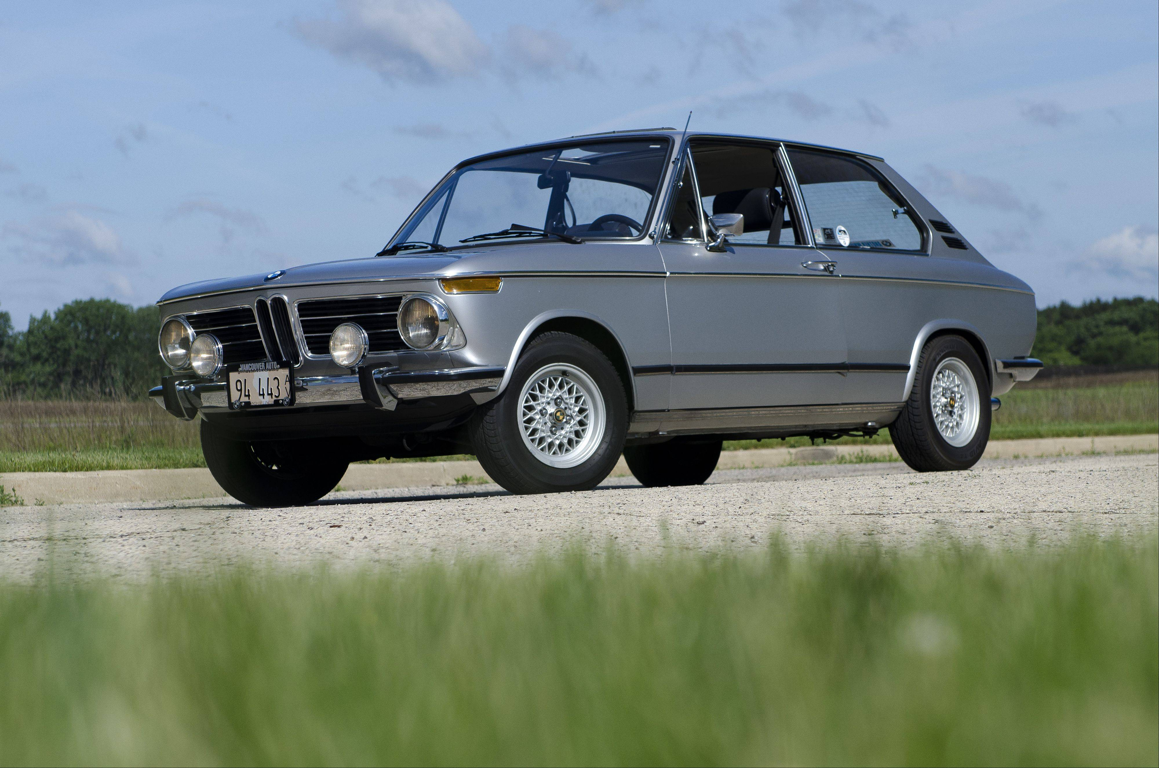What makes the 1972 BMW 2000tii Touring hatchback so distinctive is that it's one of only two that were ever imported new into Canada.