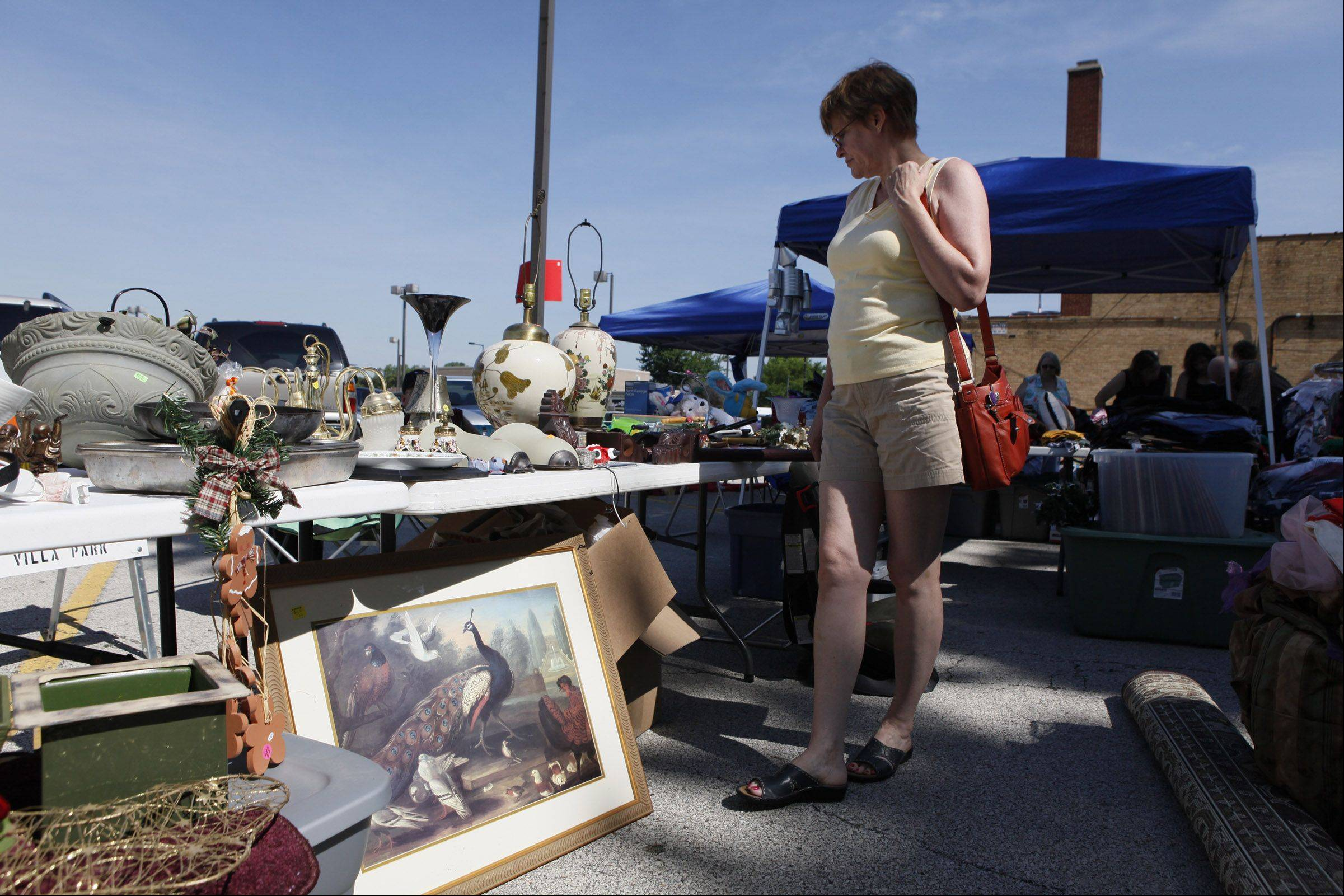 �I look for something that catches my eye,� said Jean Tartaglia when she was at the VFW Post 2801 parking lot sale in Villa Park.