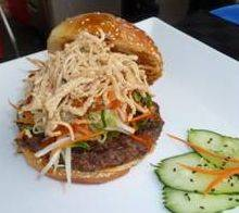 "The ""Samurai Burger,"" a combination of flavors from Asia and America, won first place in the third annual Burger Throwdown last week. The burger was created by a team of culinary arts students from Elgin Community College."