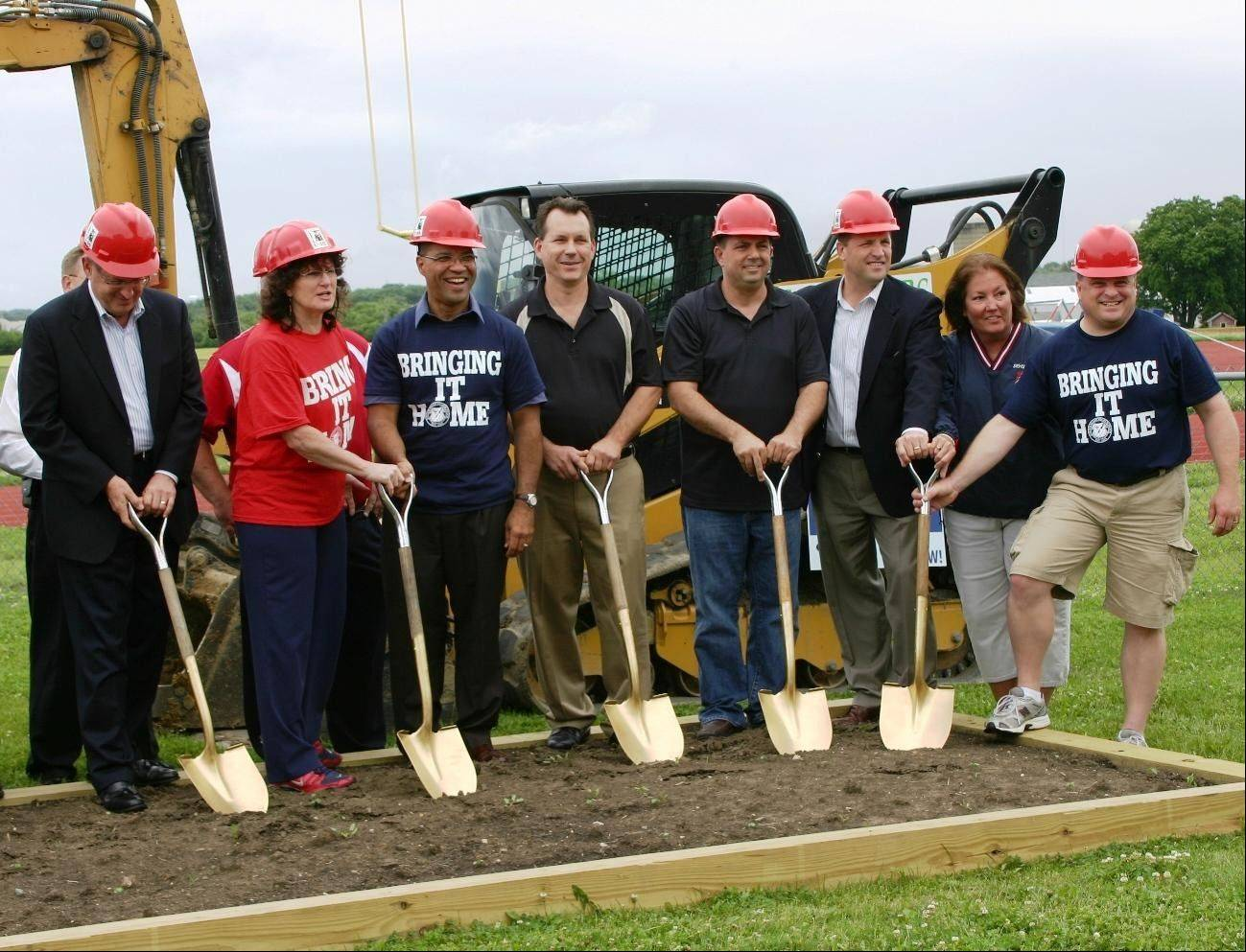 Officials from the Elgin Area School District U-46 Board of Education, the district superintendent, South Elgin High School staff and the SEHS Boosters recently broke ground on what will become the U-46 Stadium at South Elgin High School.