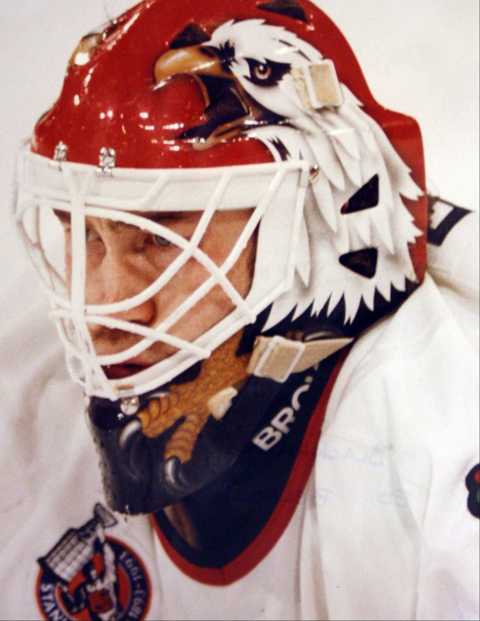 Ed Belfour, seen here in 1993, was named the NHL's best rookie in 1991 as a member of the Blackhawks.