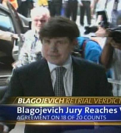 Rod Blagojevich arrives outside the Dirksen Federal building on his way to hear the verdicts.