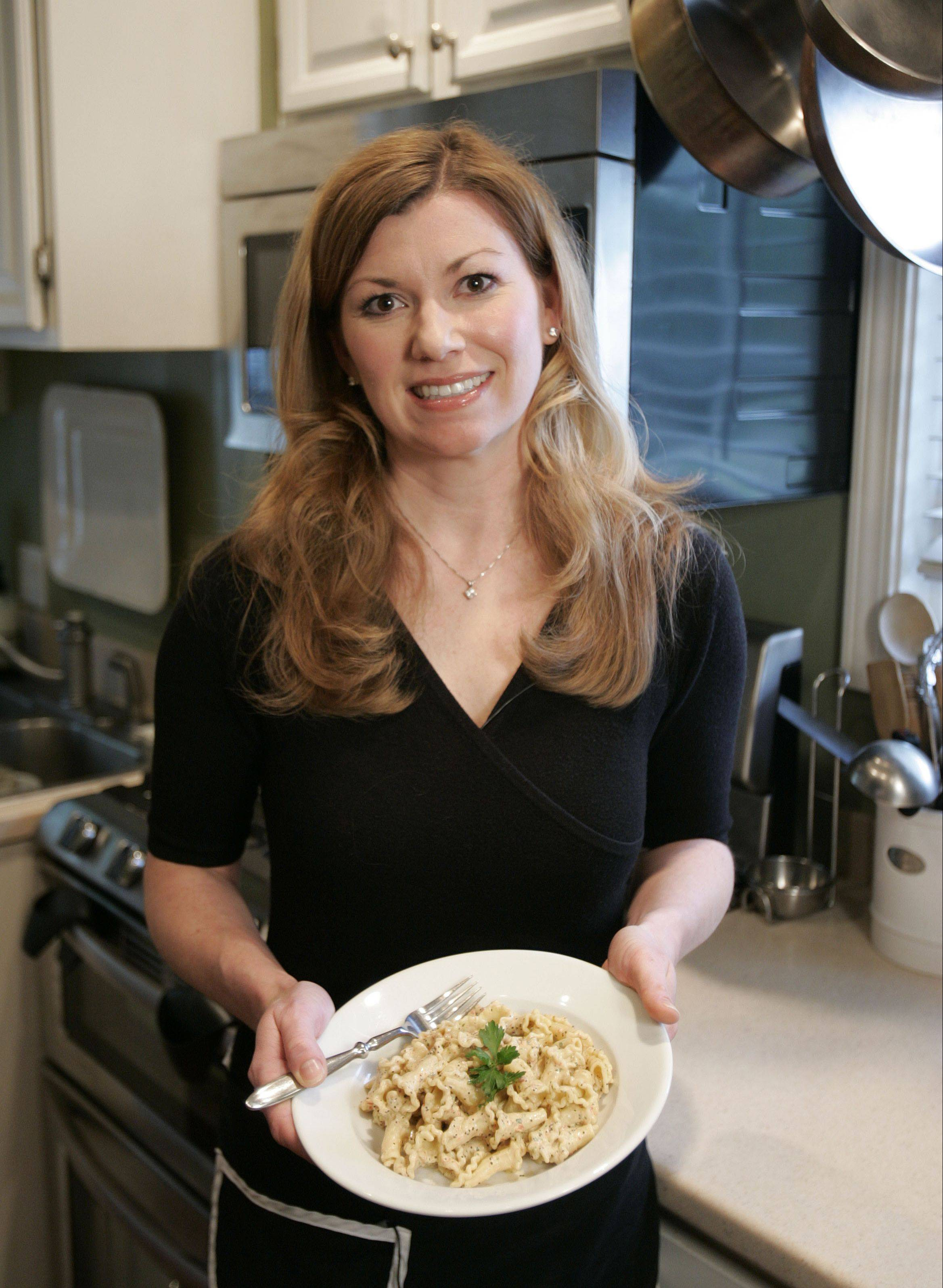 Nicole Kosowski is happiest when she's sharing food, like this pasta salad, with family and friends.