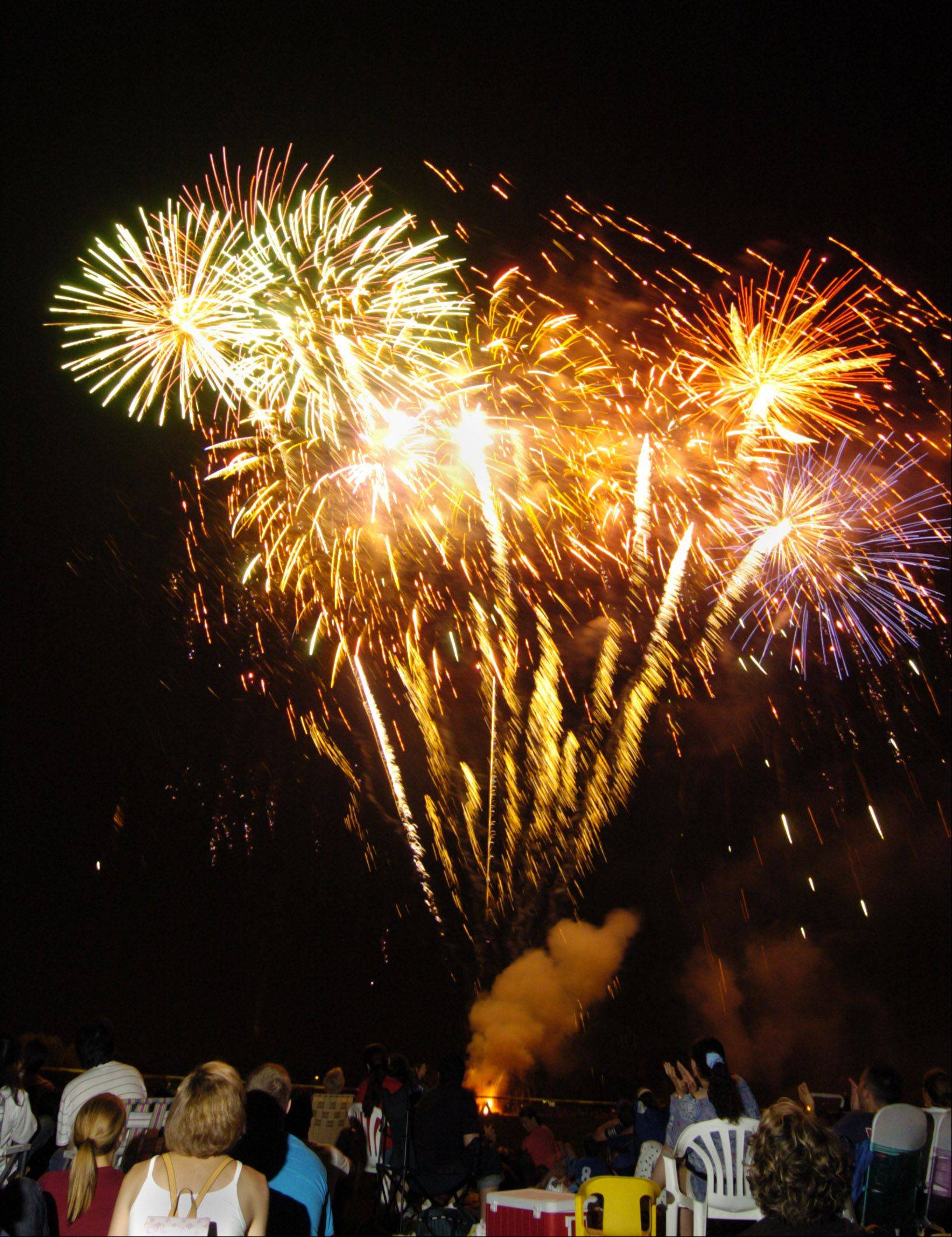 Melas Park in Mount Prospect is the place to be for fireworks at dusk on Monday, July 4.