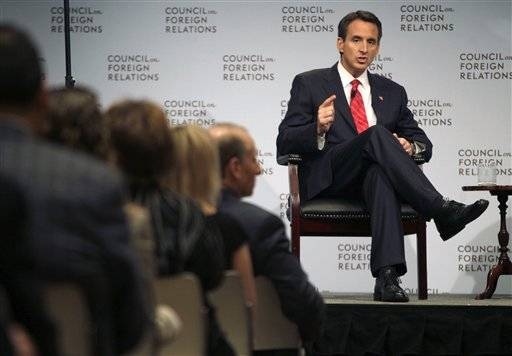 Republican presidential candidate, former Minnesota Gov. Tim Pawlenty speaks at the Council on Foreign Relations in New York, Tuesday, June 28, 2011.