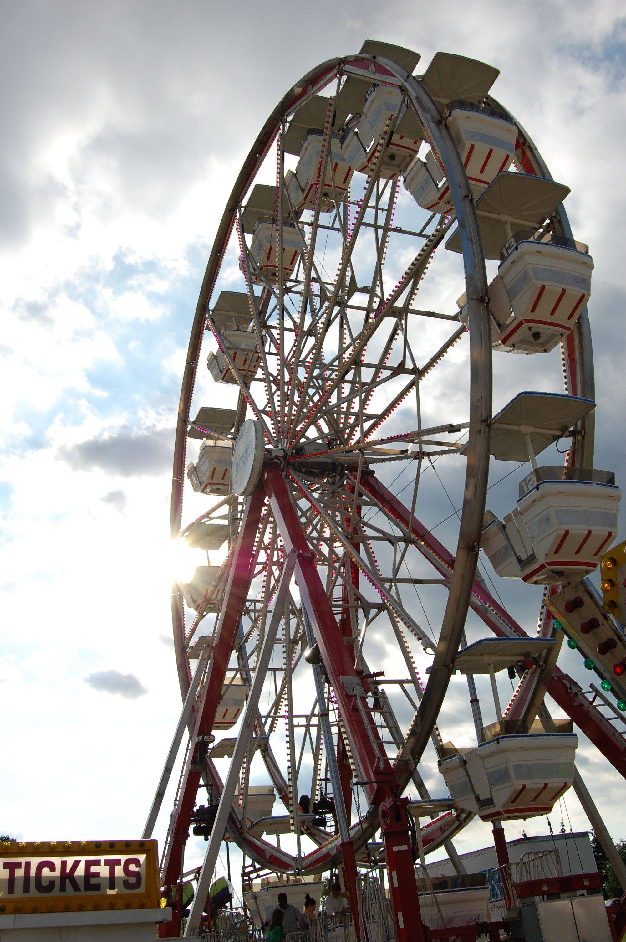 The Ferris wheel on the Hoffman Estates Village Hall grounds.