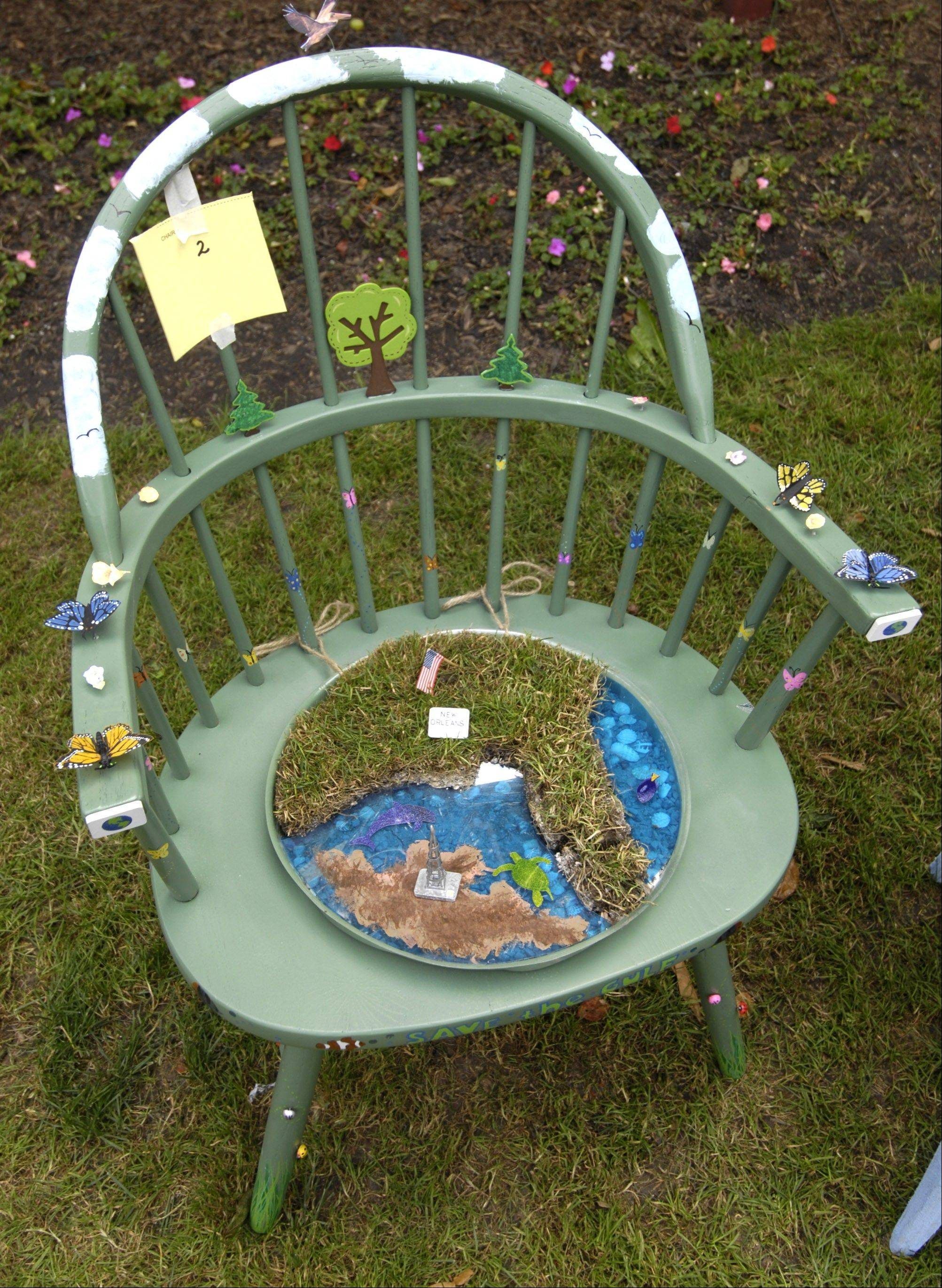 Decorate a chair for Frontier Days
