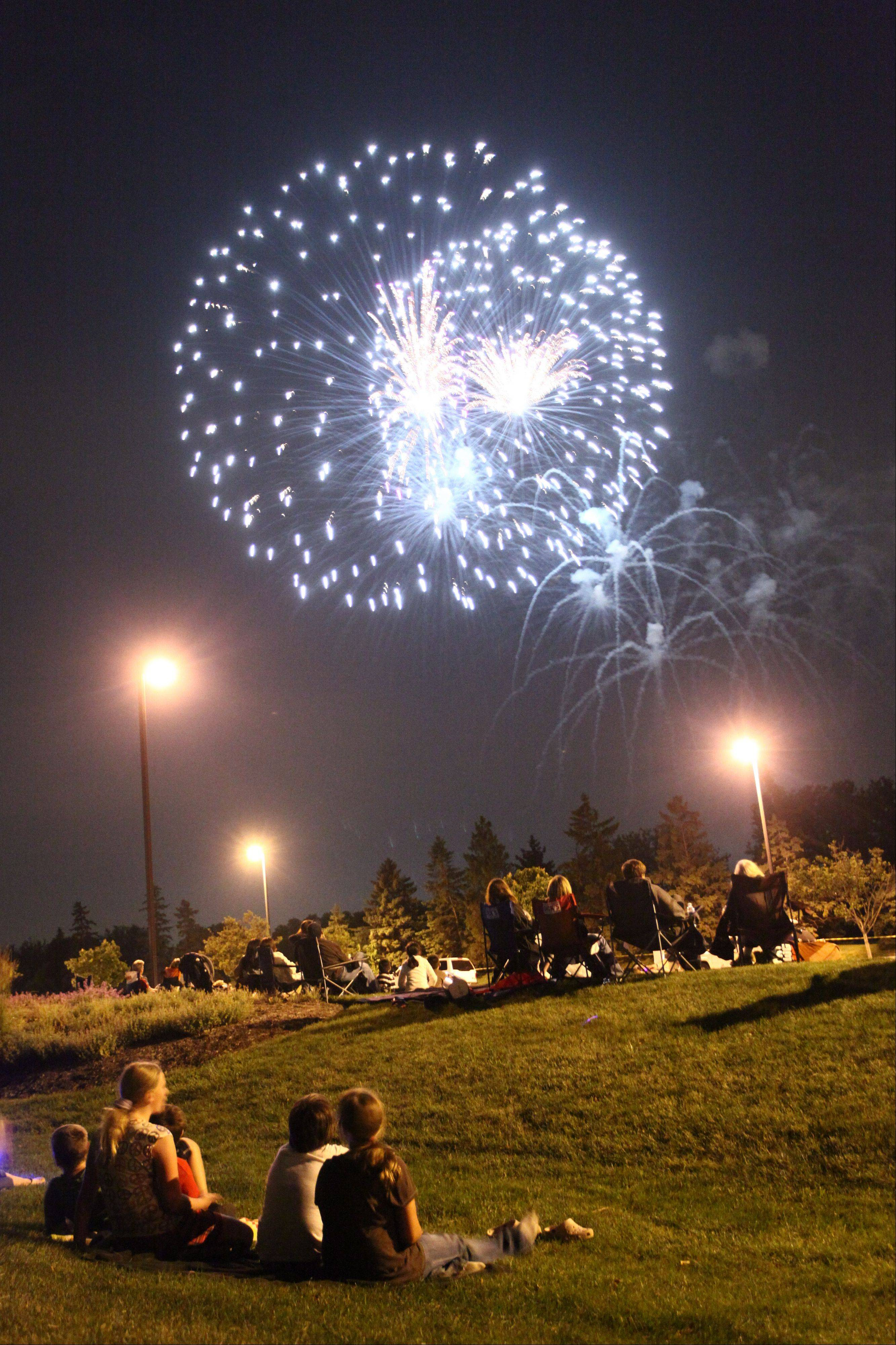 Oak Brook launches its fireworks at 9:15 p.m. Sunday, July 3, at the Oak Brook Sports Core and Polo Club.