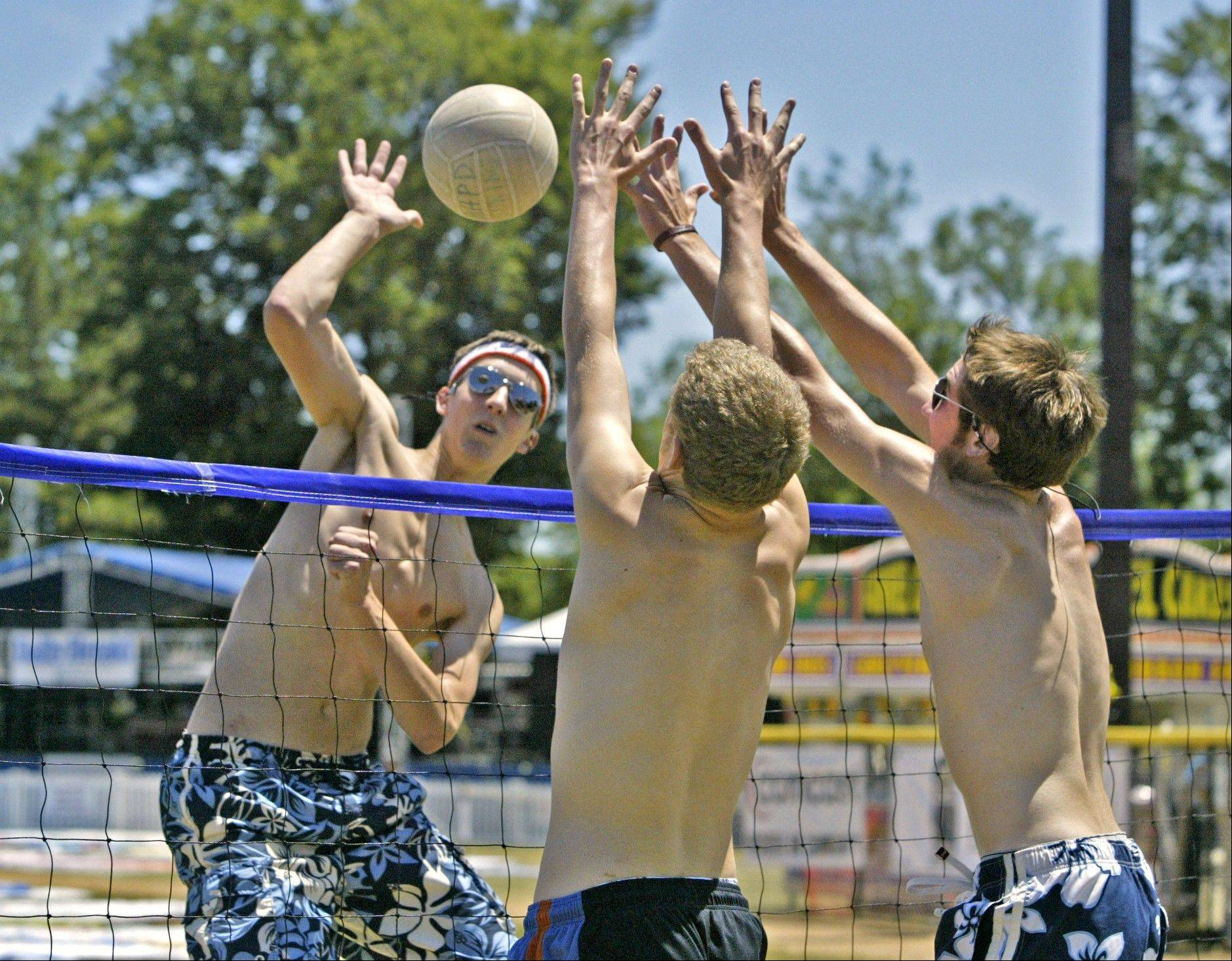 The teen volleyball tournament is a festival staple.