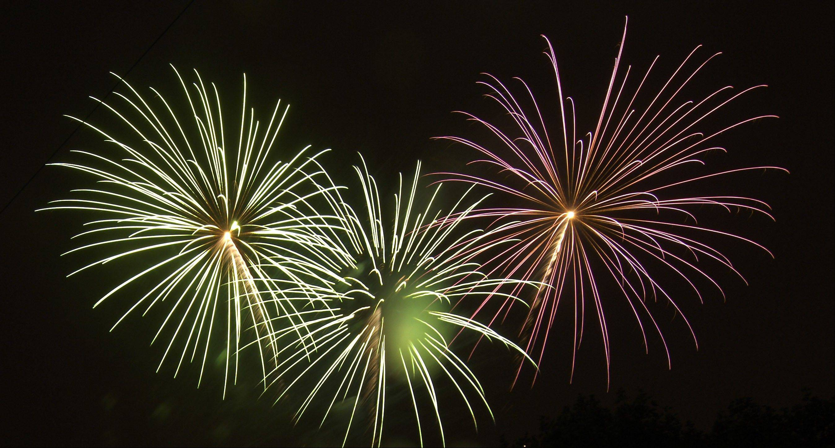 Fireworks will follow a day of racing, for which tickets can be bought online.