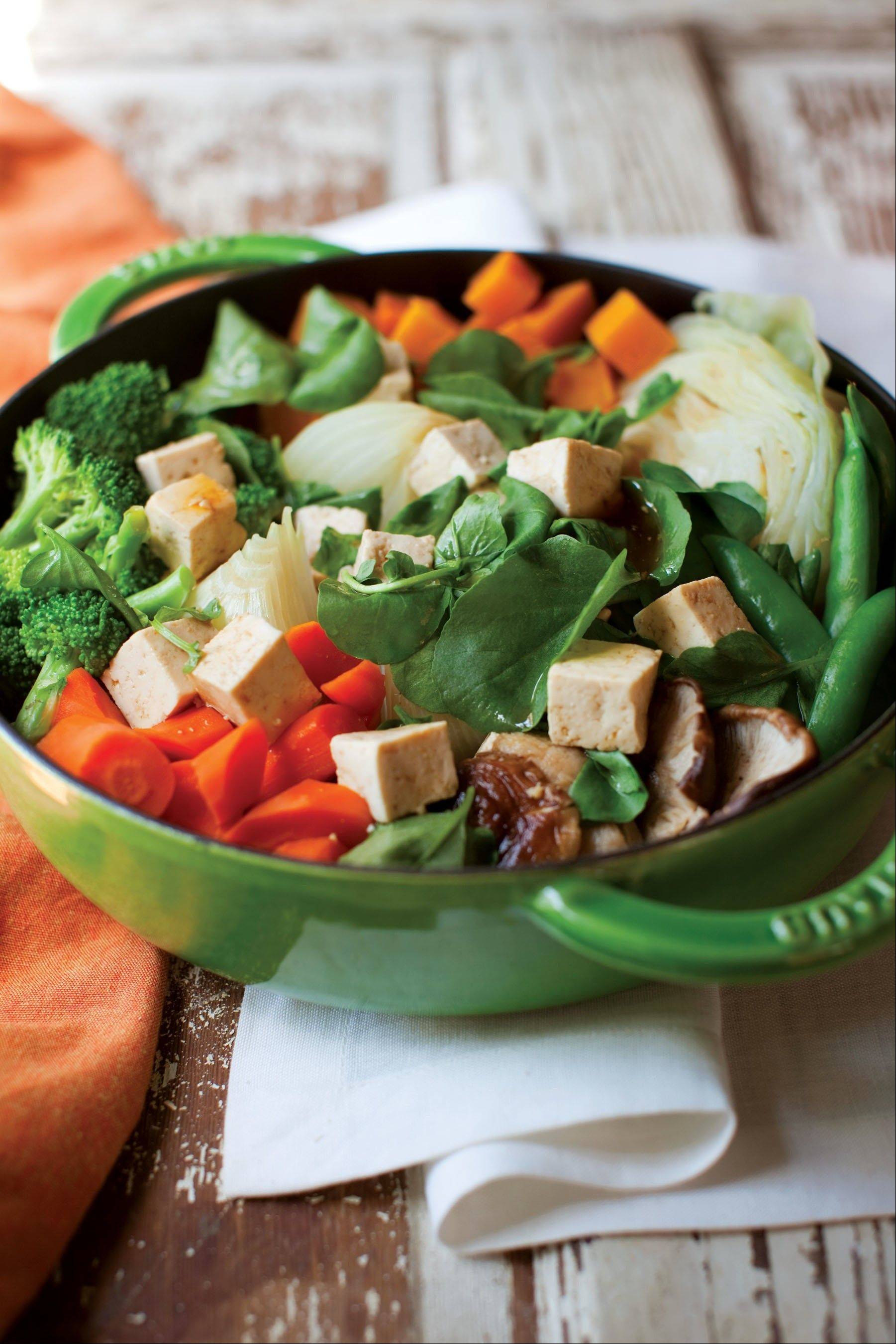 "Vegan meals like this beautiful and tasty vegetable dish from ""Vegan Family Meals"" offer simple alternatives to those wanting to eat less meat."
