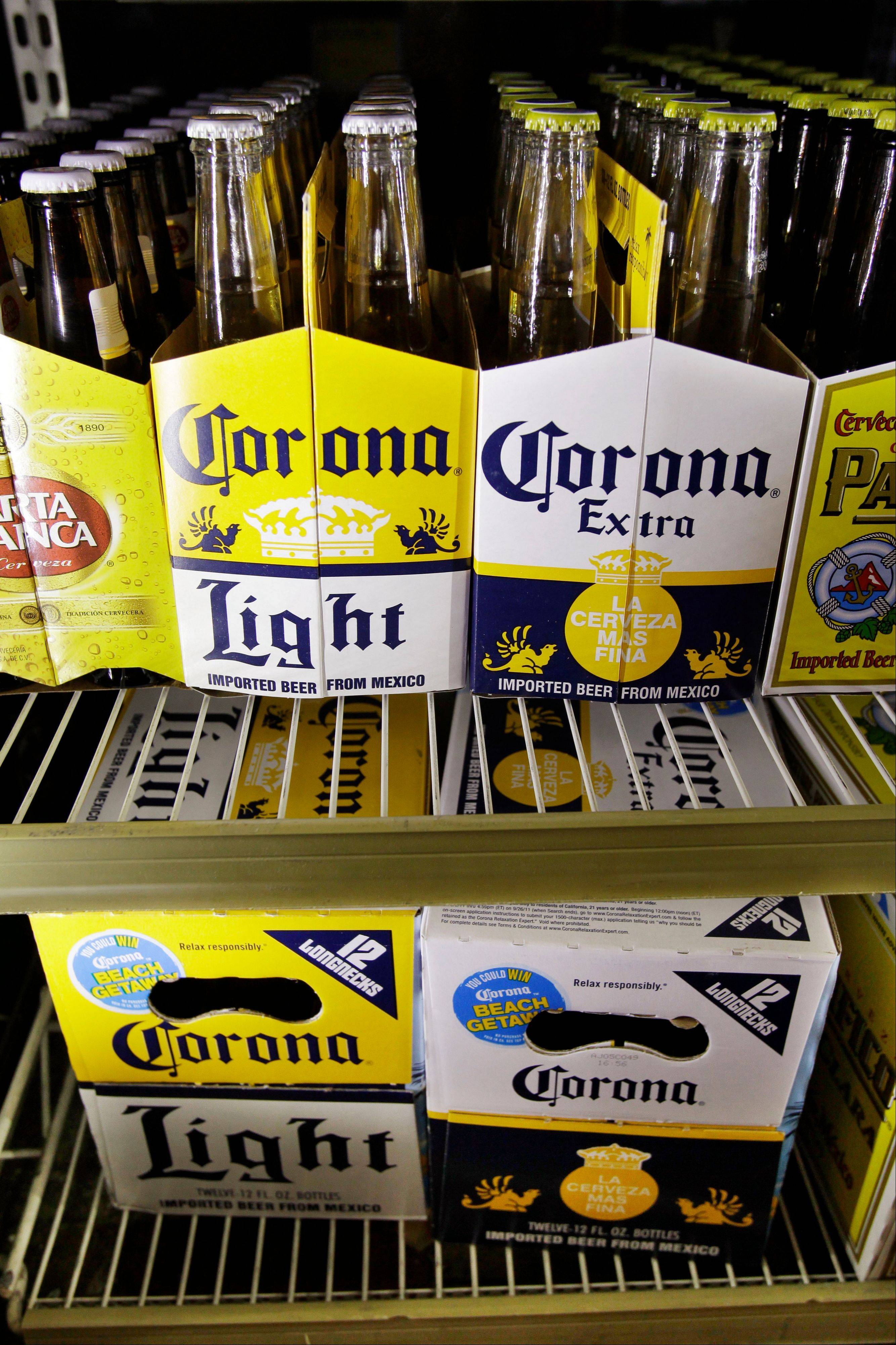 Constellation Brands, the maker of Robert Mondavi wine, Corona beer and Svedka vodka said Thursday its first-quarter profit jumped 52 percent to $75 million on improved wine and spirits sales in North America.