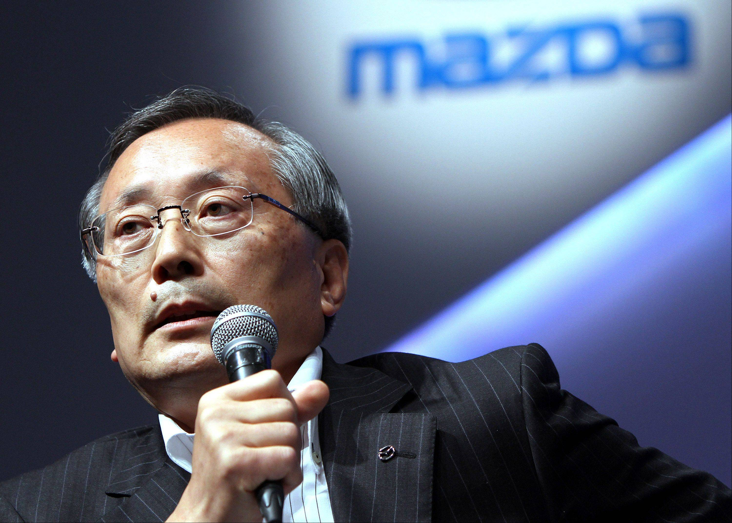 Takashi Yamanouchi, chairman, president and chief executive officer of Mazda Motor Corp., says Mazda plans to sell 6,000 units of the new Demio compact car a month in Japan.