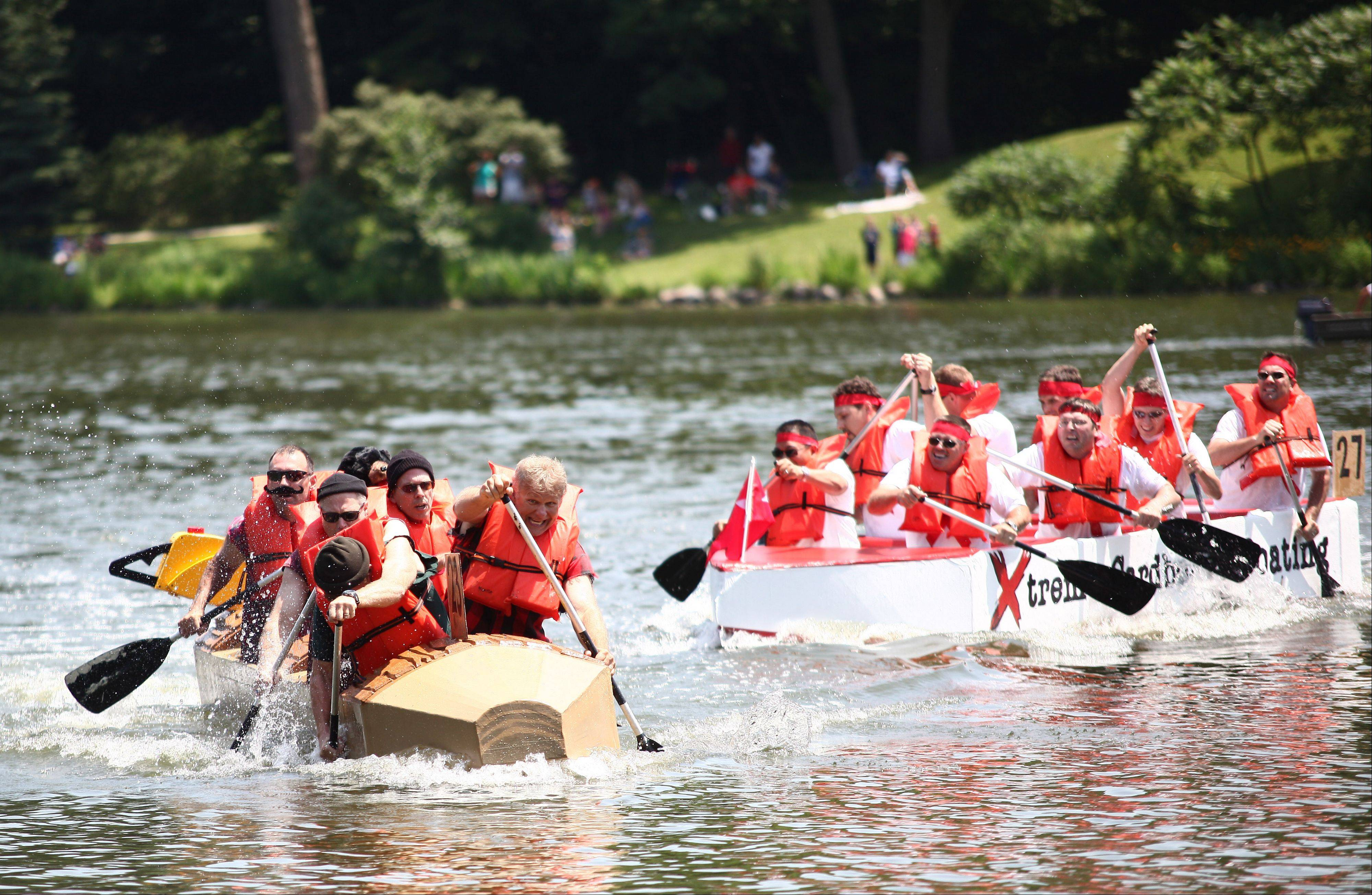 Glen Ellyn's Cardboard Regatta sets sail